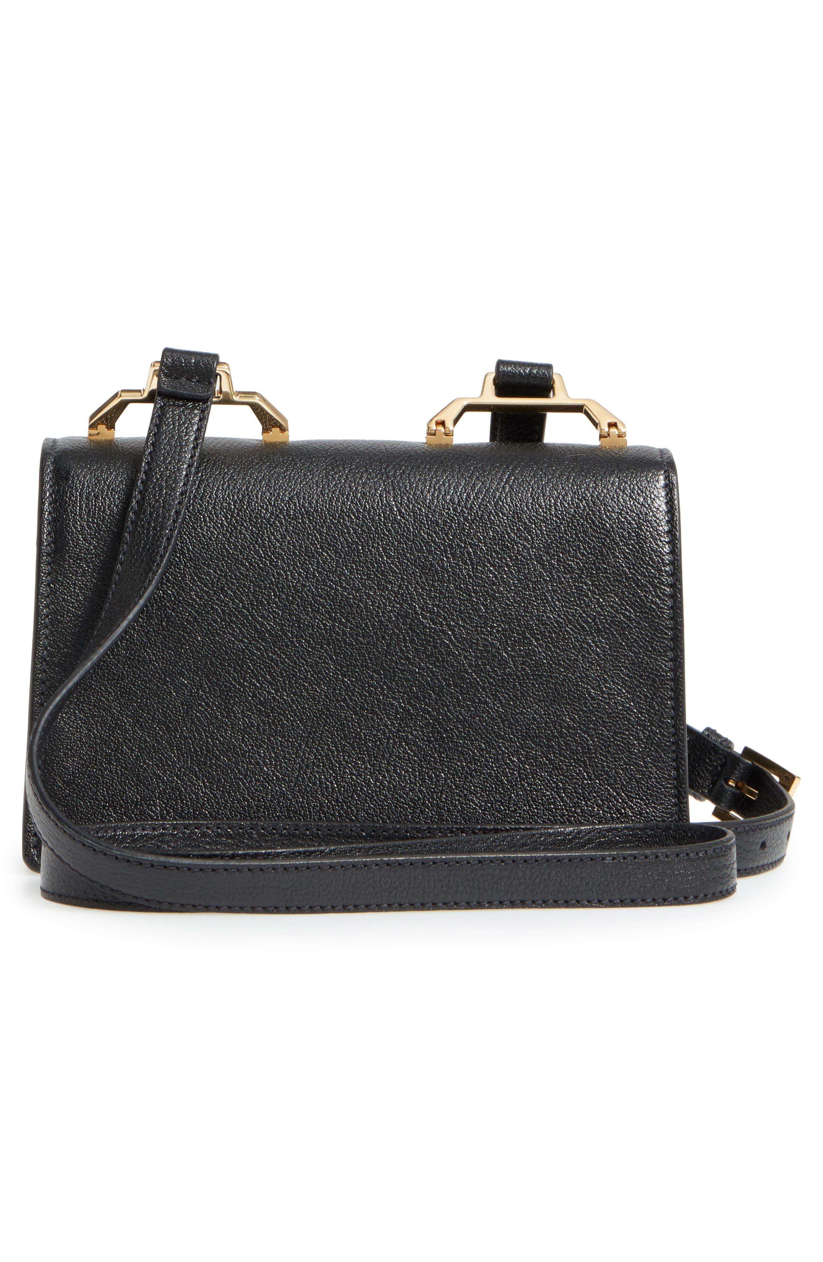 Madras Leather Crossbody Bag,                             Alternate thumbnail 3, color,                             001