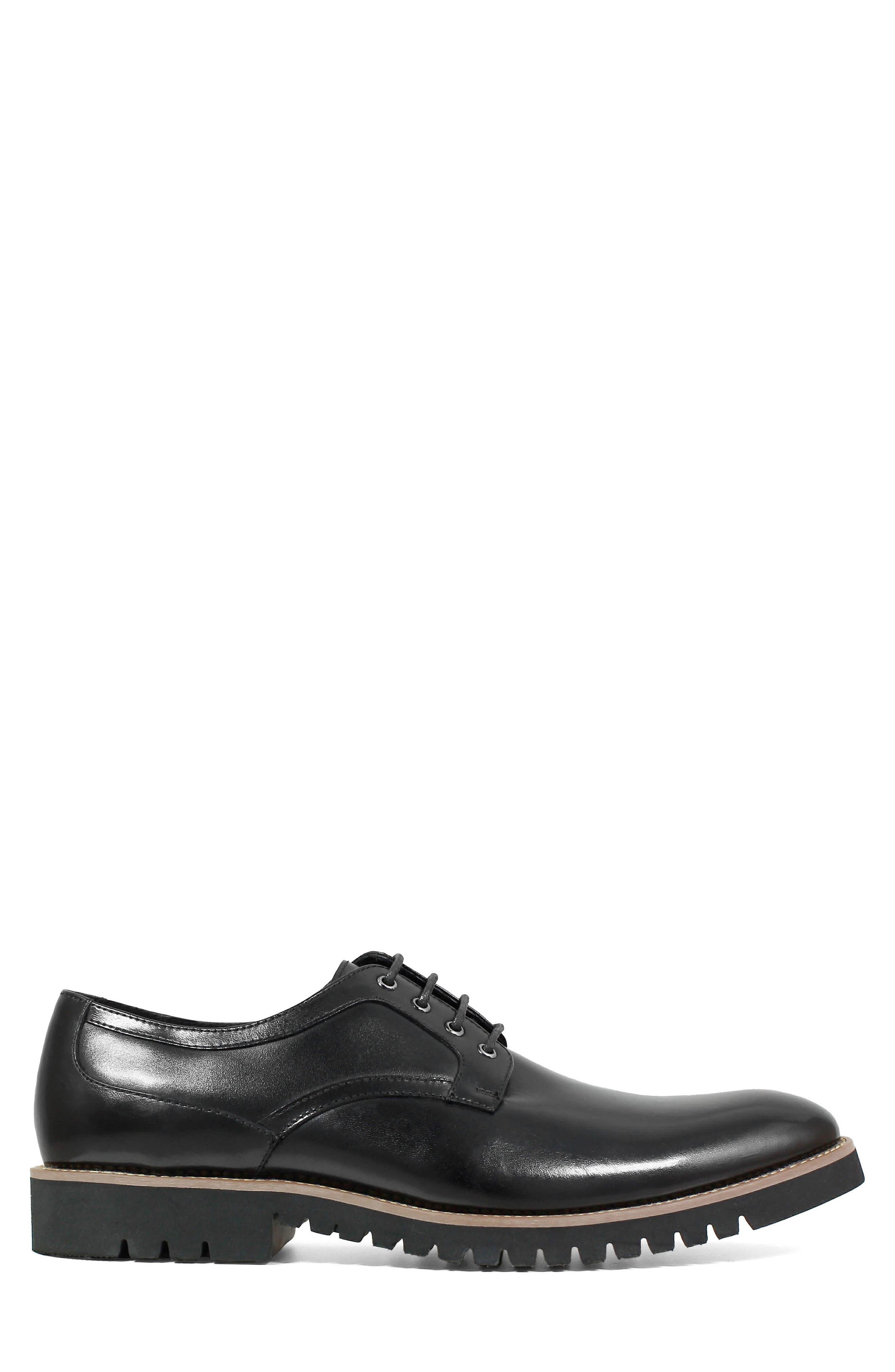 Barclay Plain Toe Derby,                             Alternate thumbnail 7, color,                             BLACK LEATHER