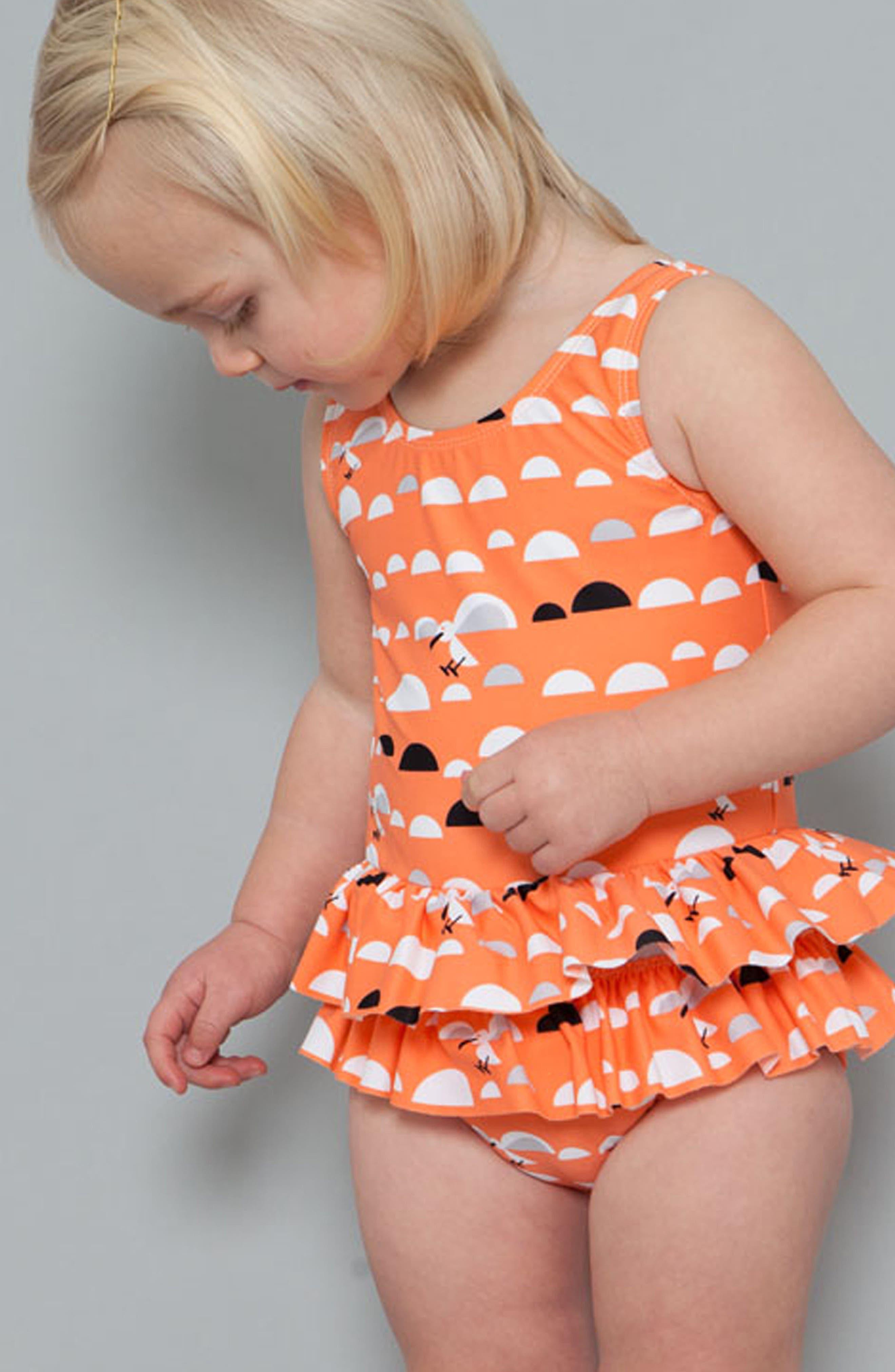Little Miss C.Gull Skirted One-Piece Swimsuit,                             Alternate thumbnail 4, color,                             815