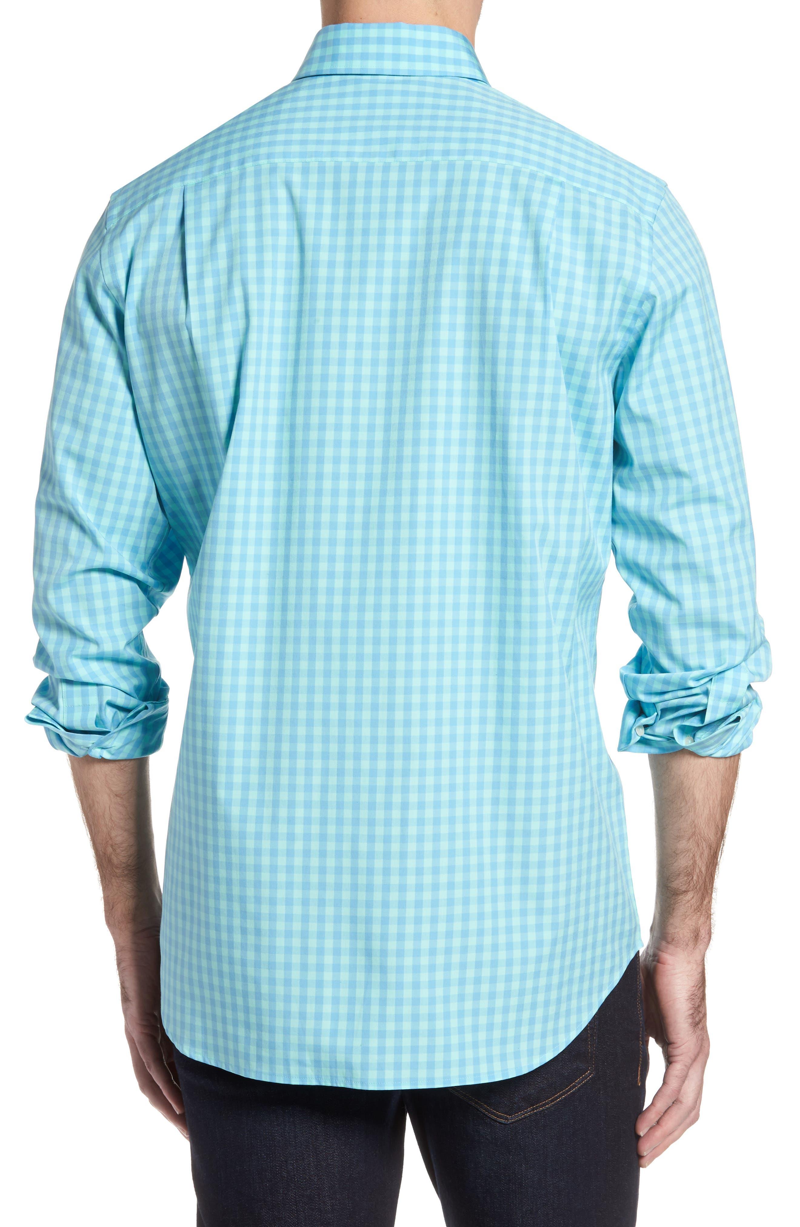 Getaway Gingham Classic Fit Sport Shirt,                             Alternate thumbnail 2, color,                             476