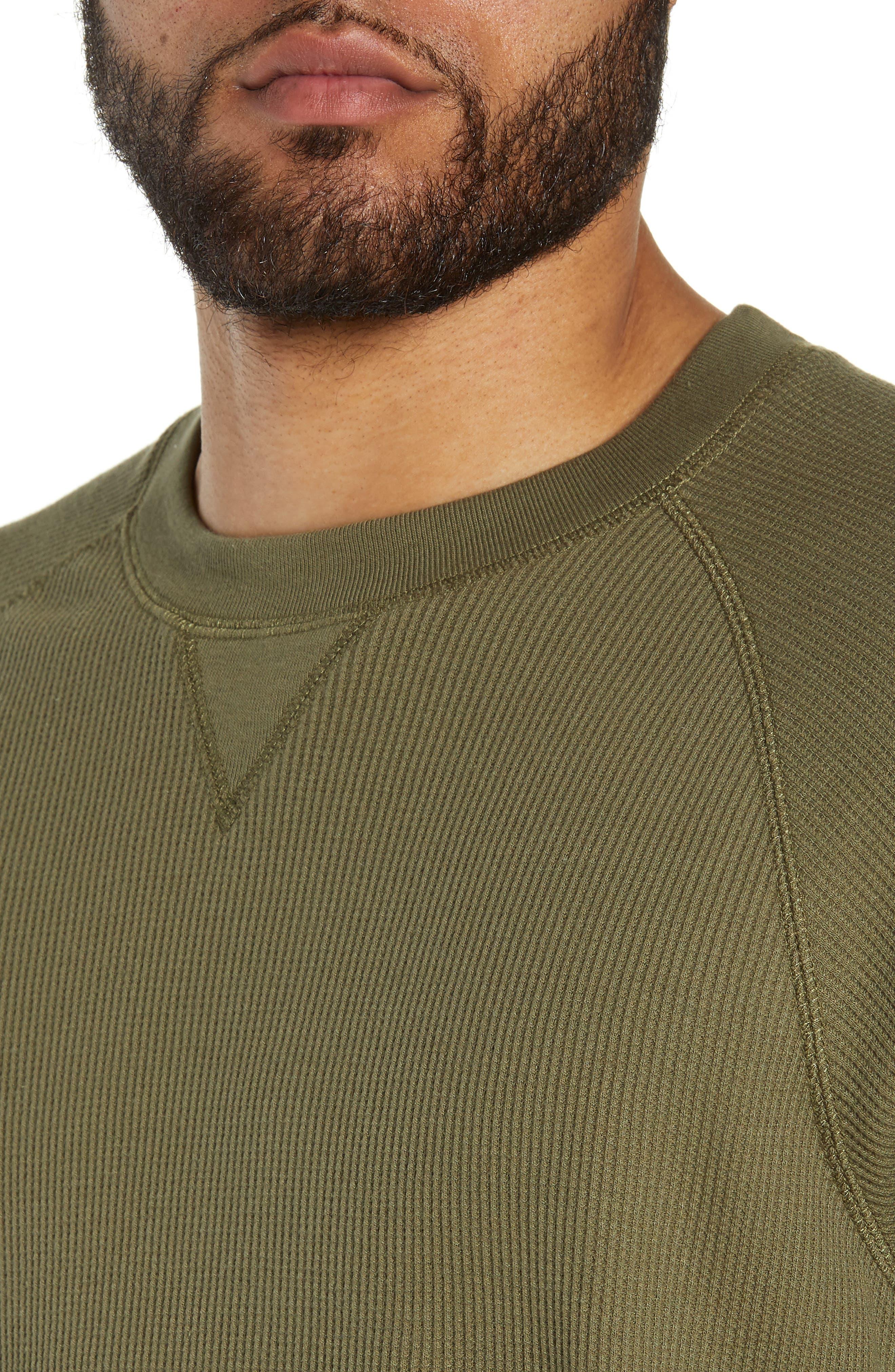 Leeward Thermal Long Sleeve T-Shirt,                             Alternate thumbnail 4, color,                             ROVER GREEN