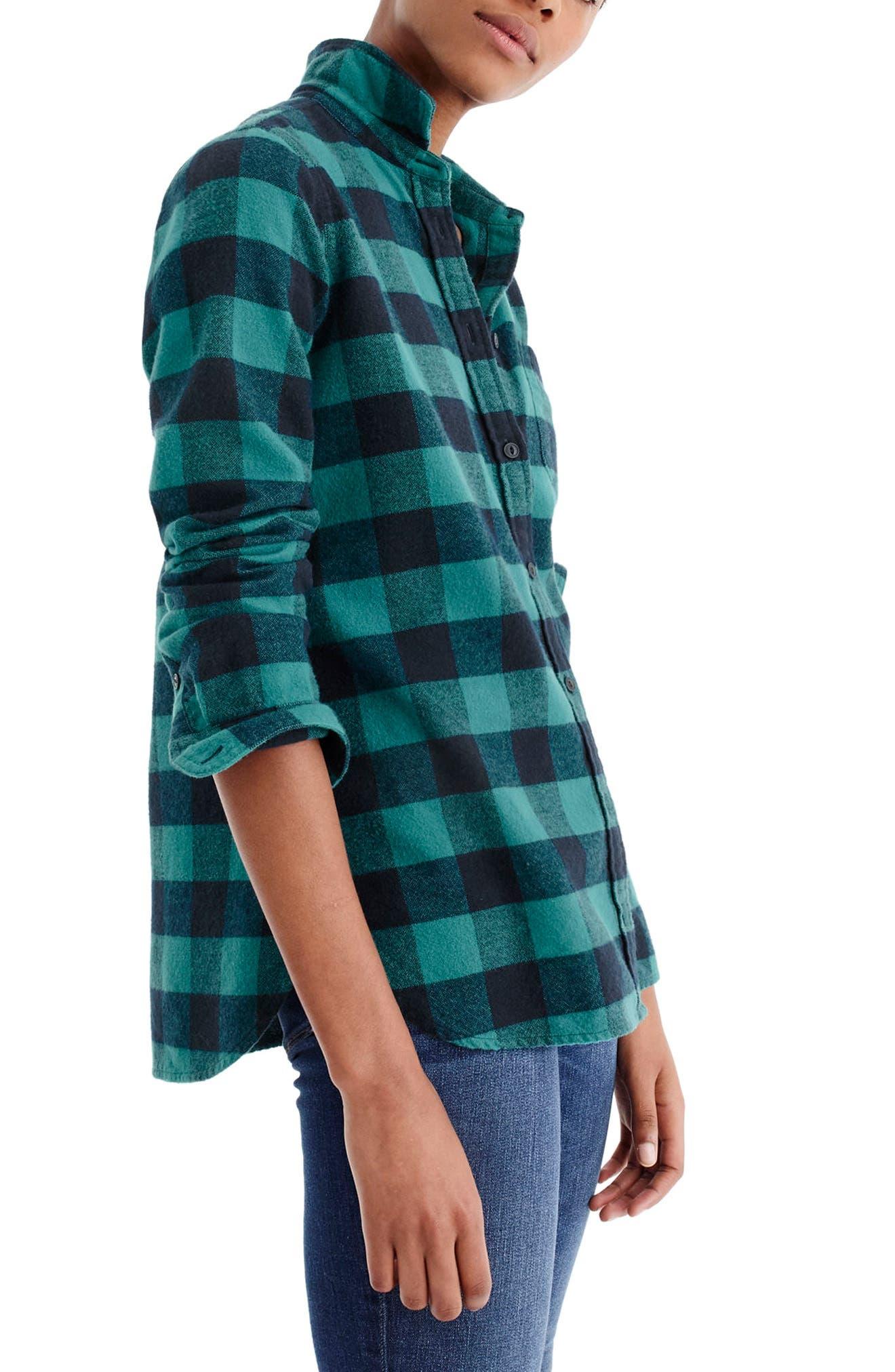 Buffalo Check Cotton & Wool Boy Shirt,                             Main thumbnail 1, color,                             309