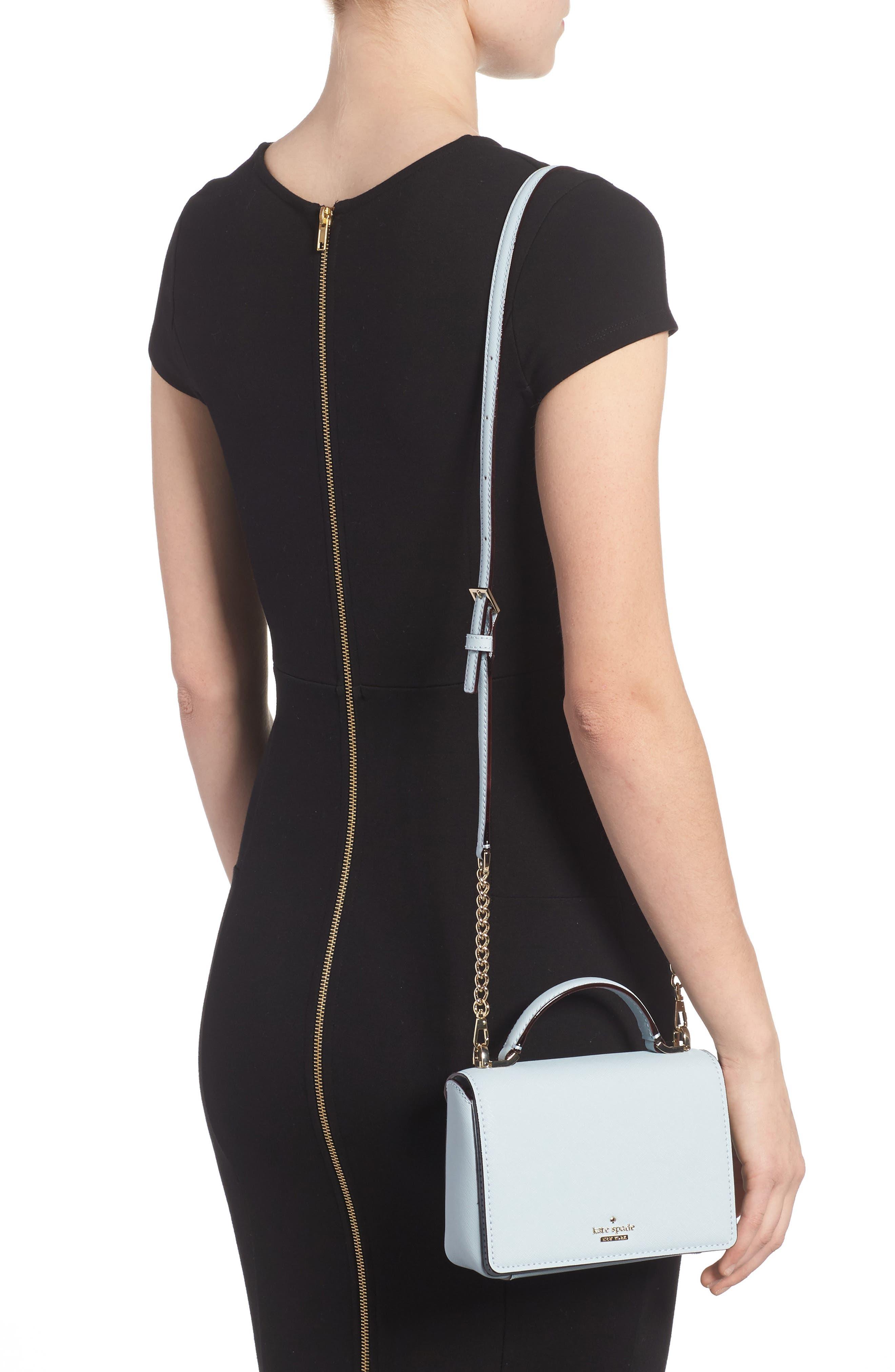 cameron street - hope saffiano leather crossbody bag,                             Alternate thumbnail 5, color,