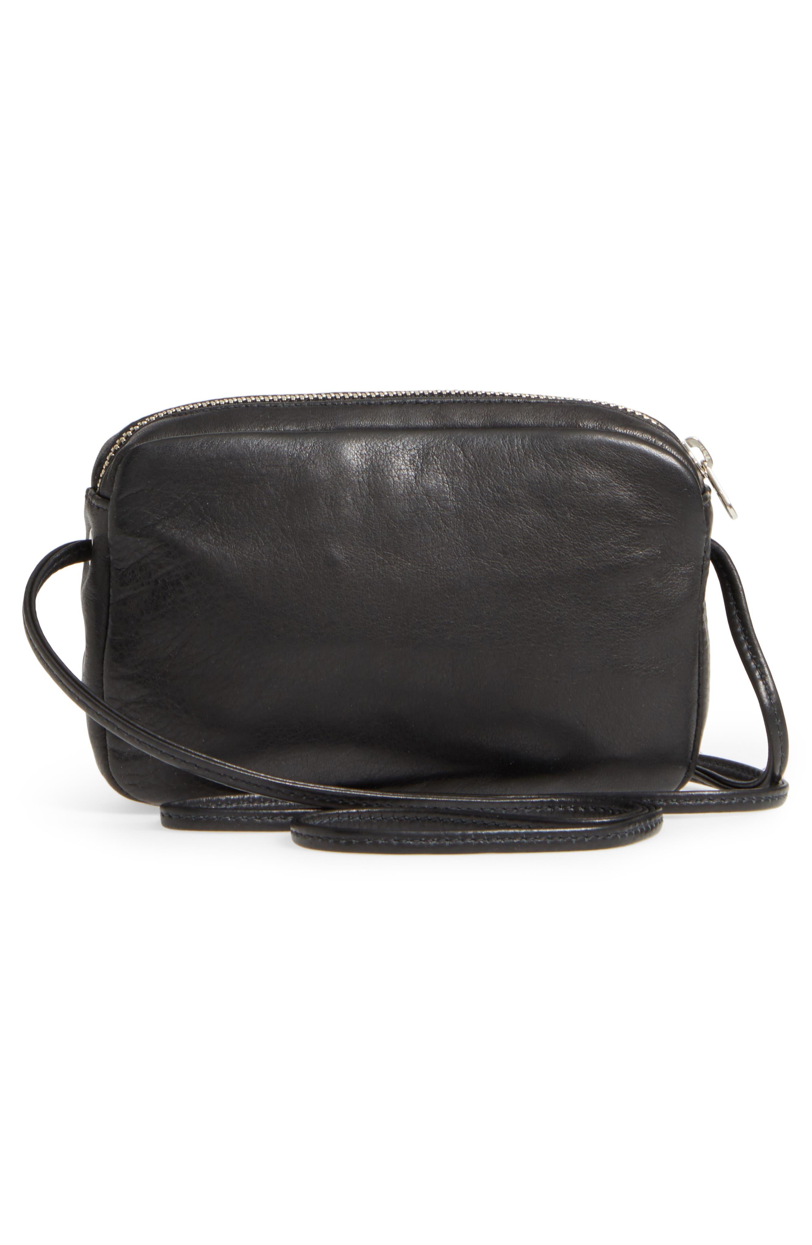 'Mini' Pebbled Leather Crossbody,                             Alternate thumbnail 3, color,                             005