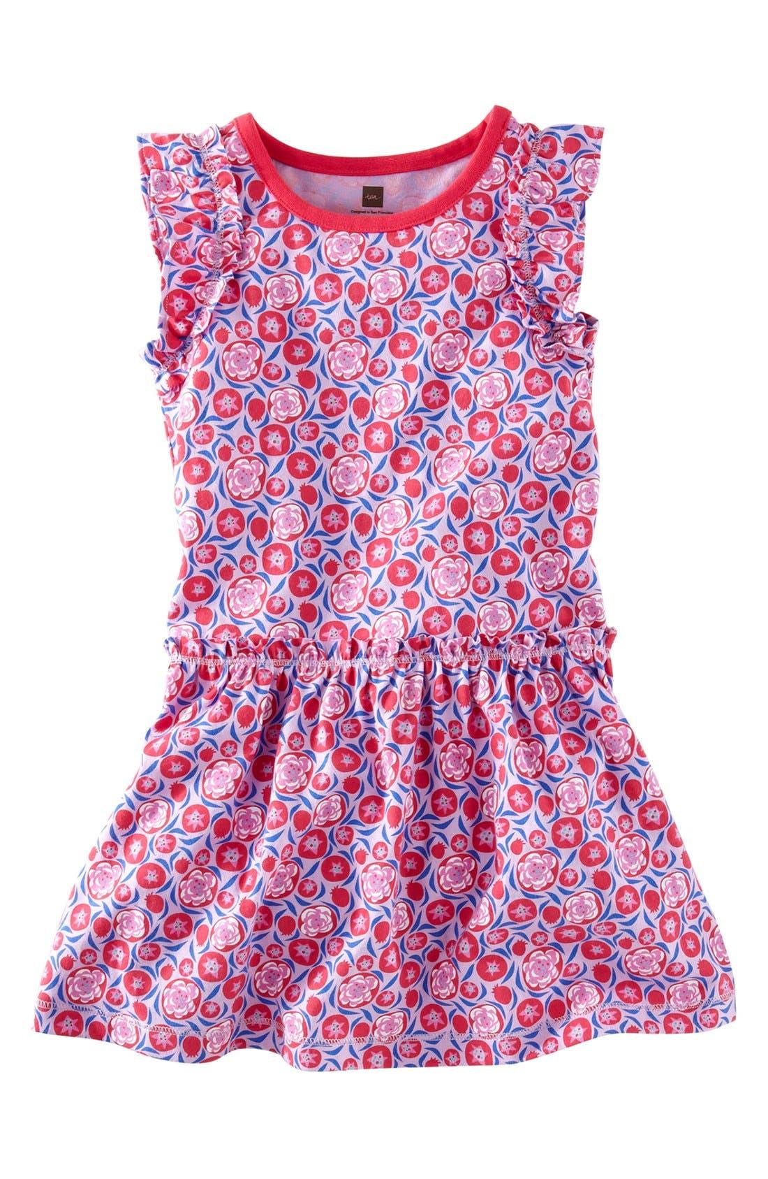 'Pomegranate' Flutter Dress,                             Main thumbnail 1, color,                             535