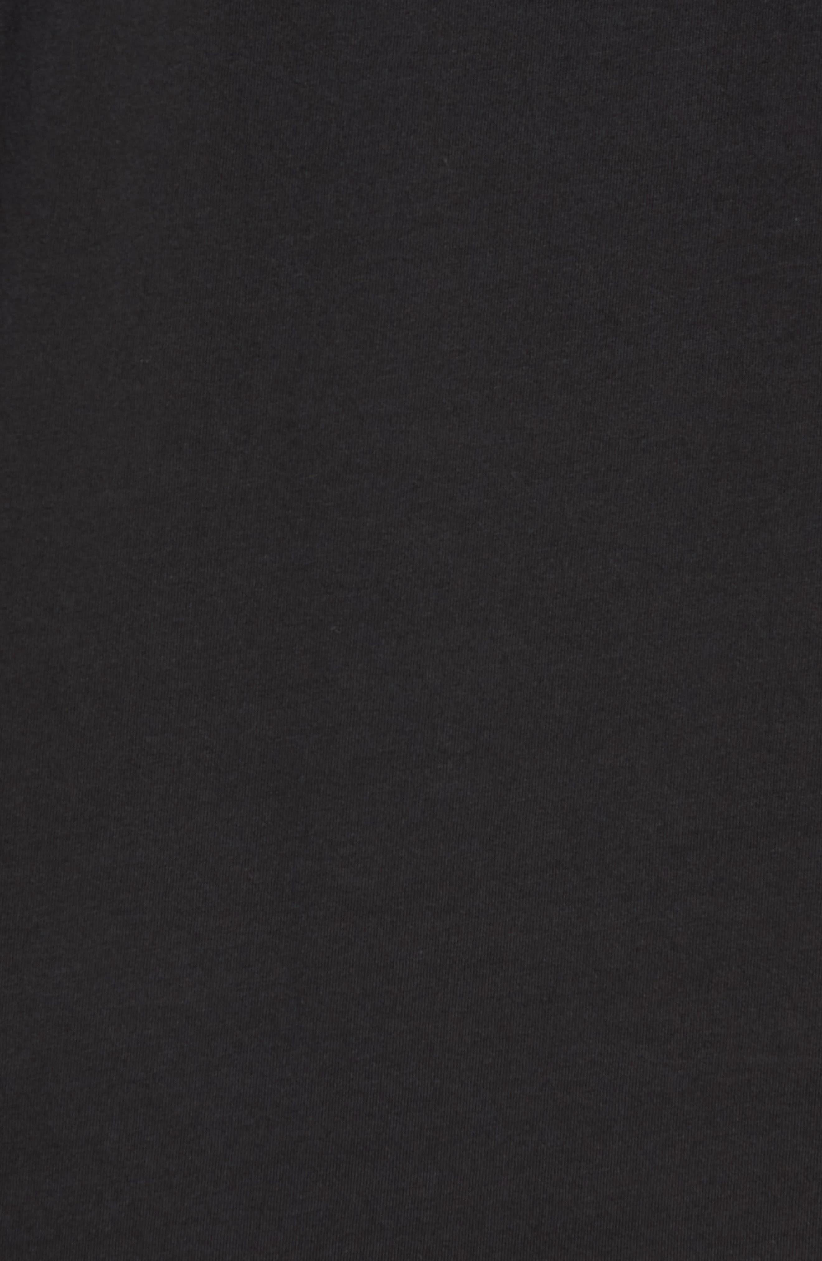 Brandon Pima T-Shirt,                             Alternate thumbnail 5, color,                             BLACK