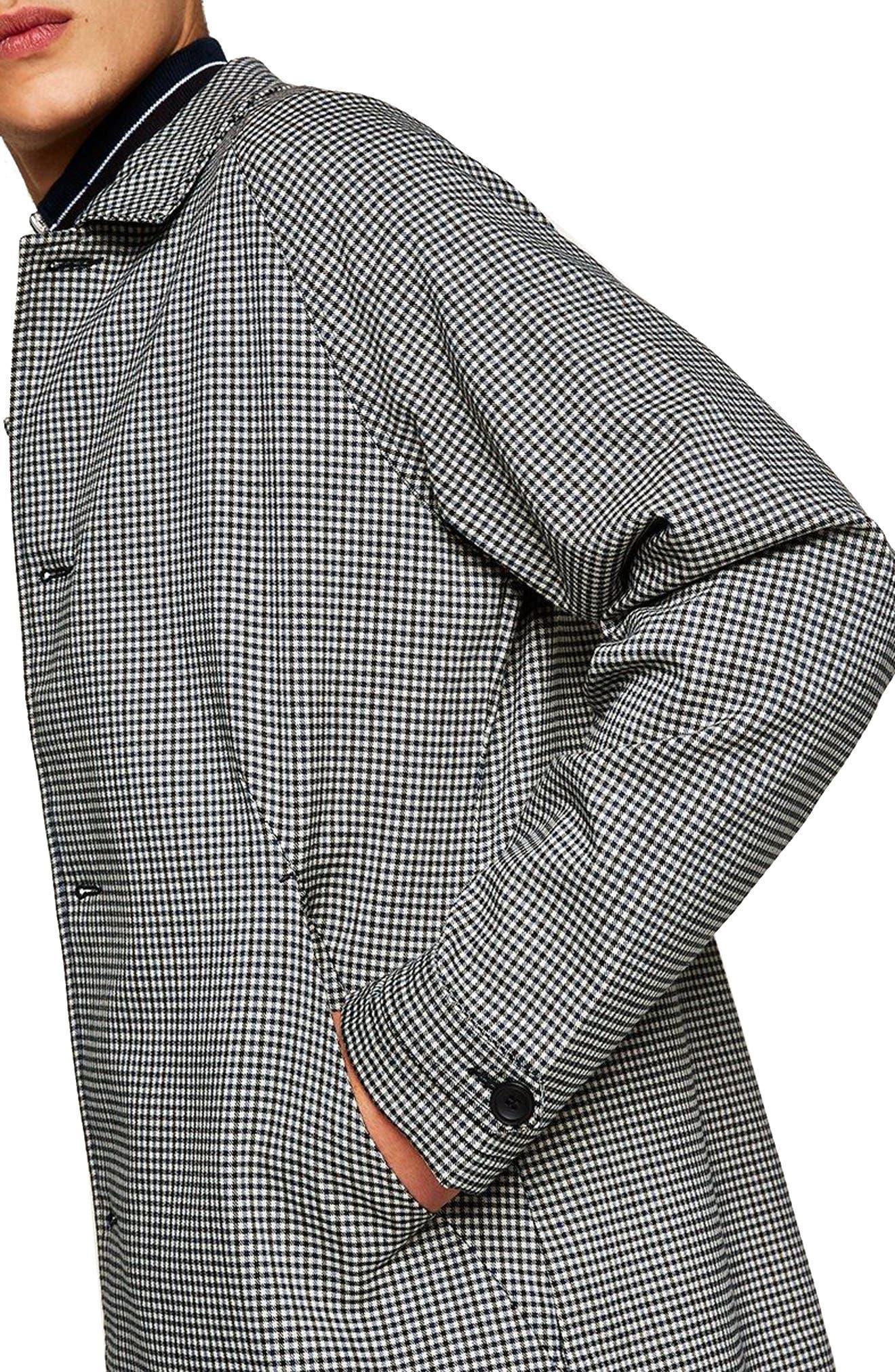 Longline Check Mac Jacket,                             Alternate thumbnail 4, color,                             020