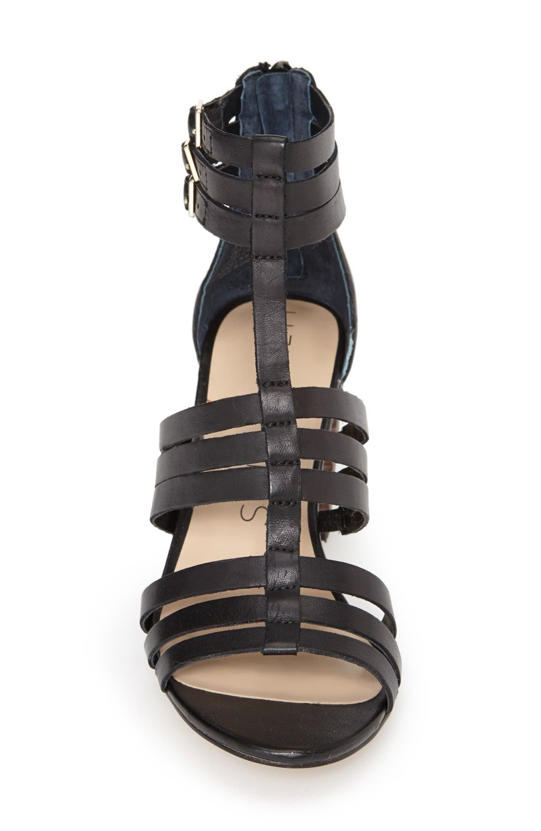 'Elise' Gladiator Sandal,                             Alternate thumbnail 4, color,                             001