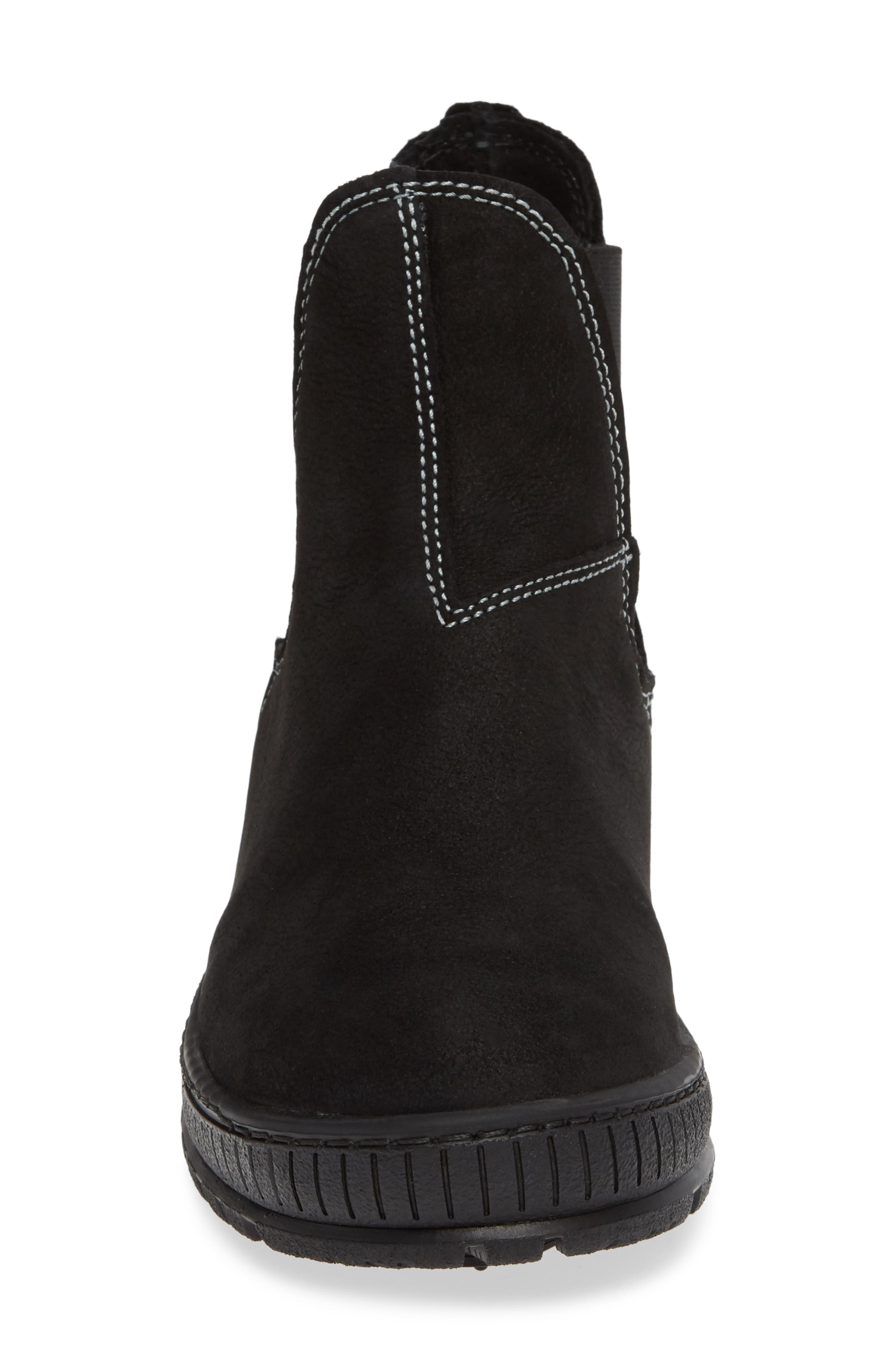 Embark Chelsea Bootie,                             Alternate thumbnail 4, color,                             BLACK LEATHER