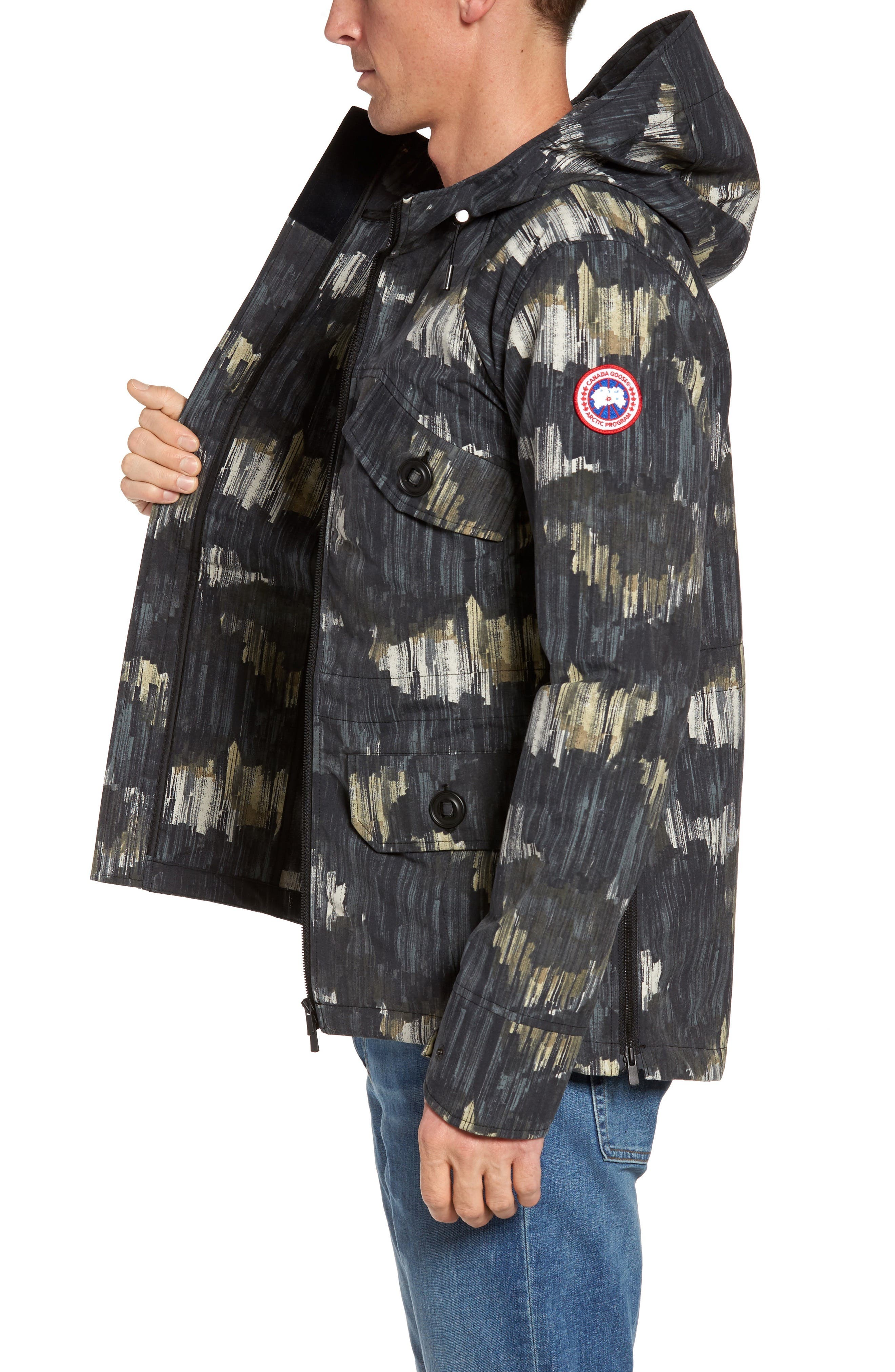 Redstone Slim Fit Hooded Jacket,                             Alternate thumbnail 3, color,                             NOCTURNE PRINT
