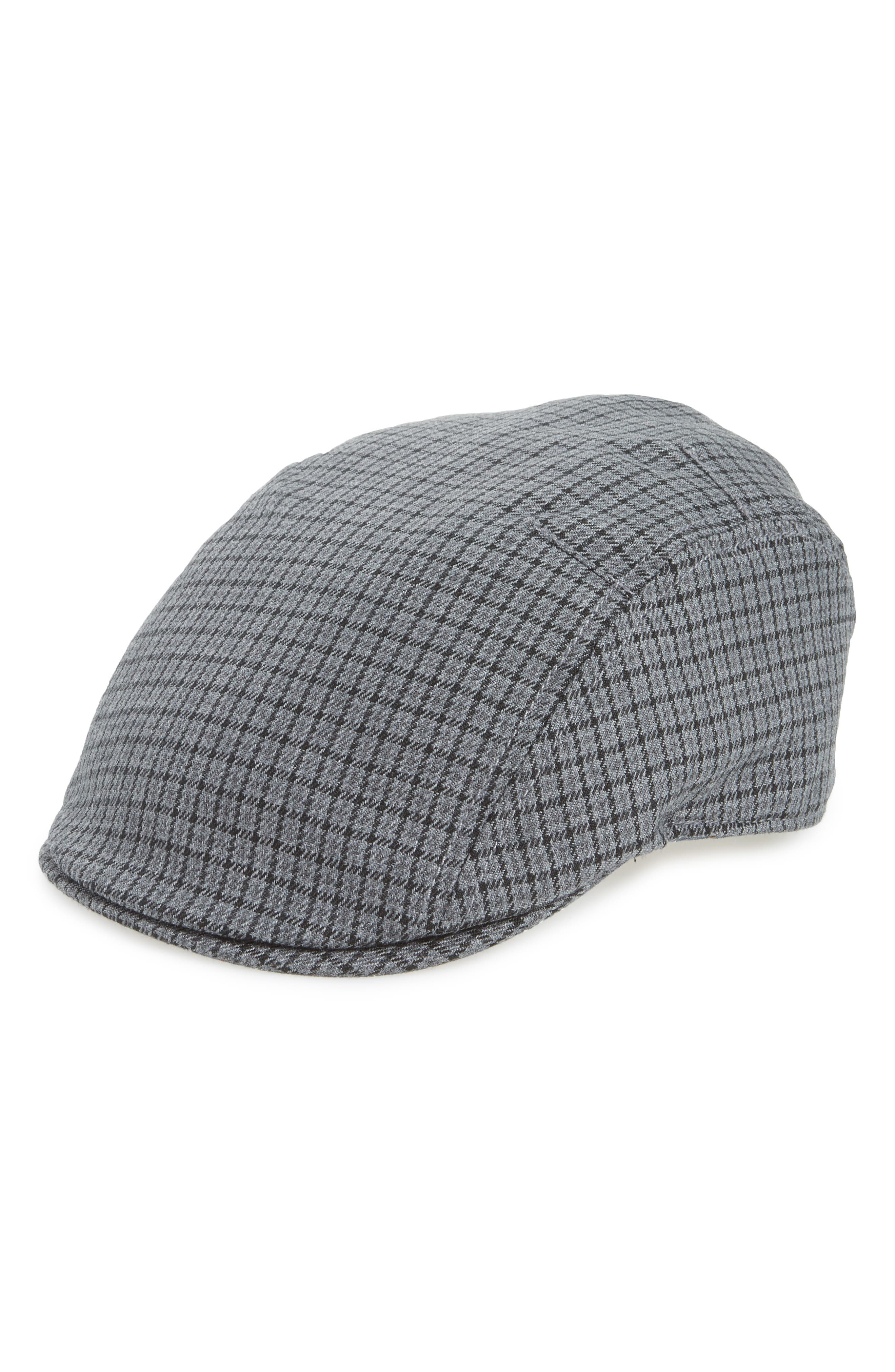 Oscar Plaid Driving Cap,                             Main thumbnail 1, color,                             020