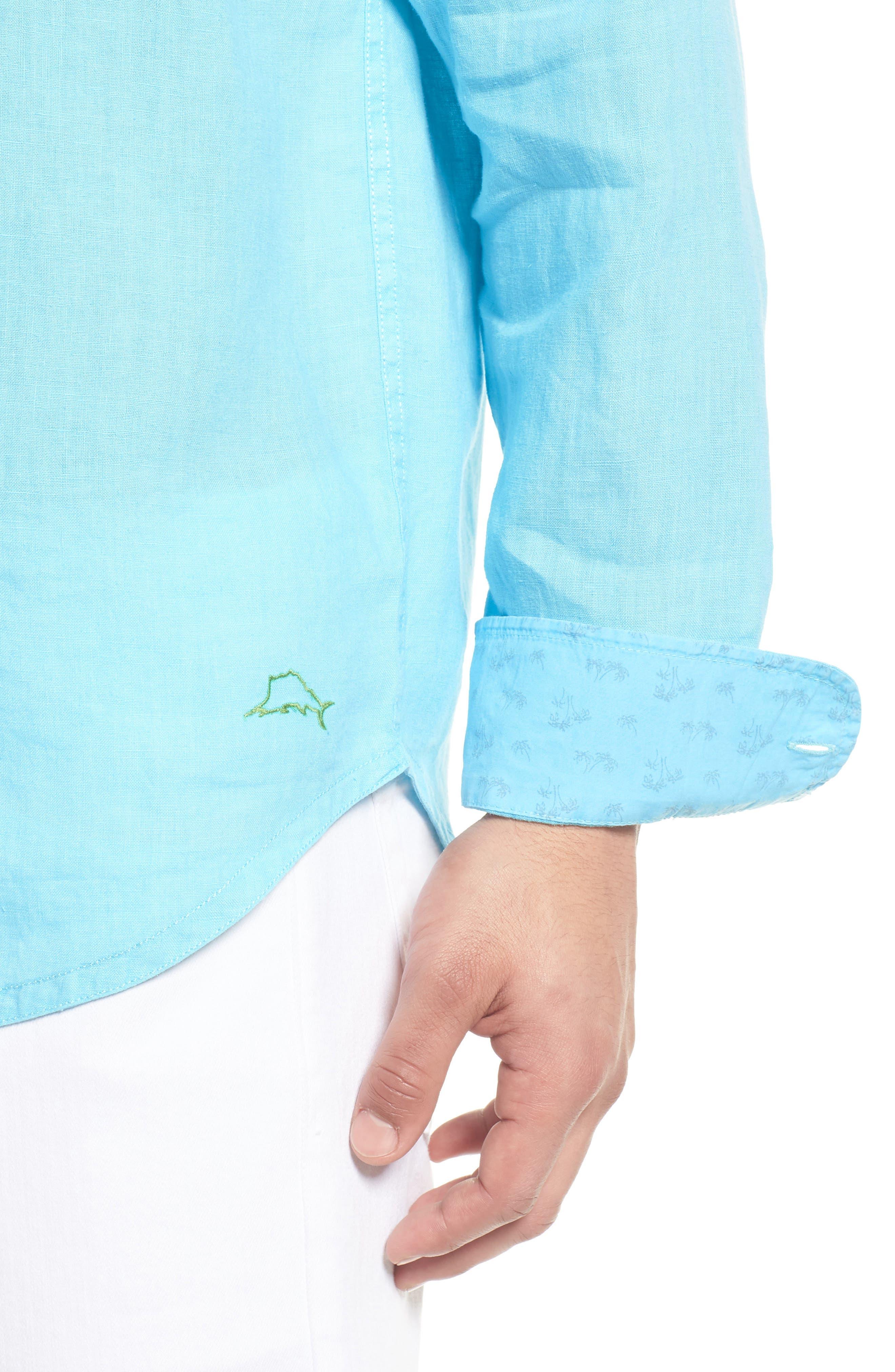 Seaspray Breezer Linen Shirt,                             Alternate thumbnail 16, color,