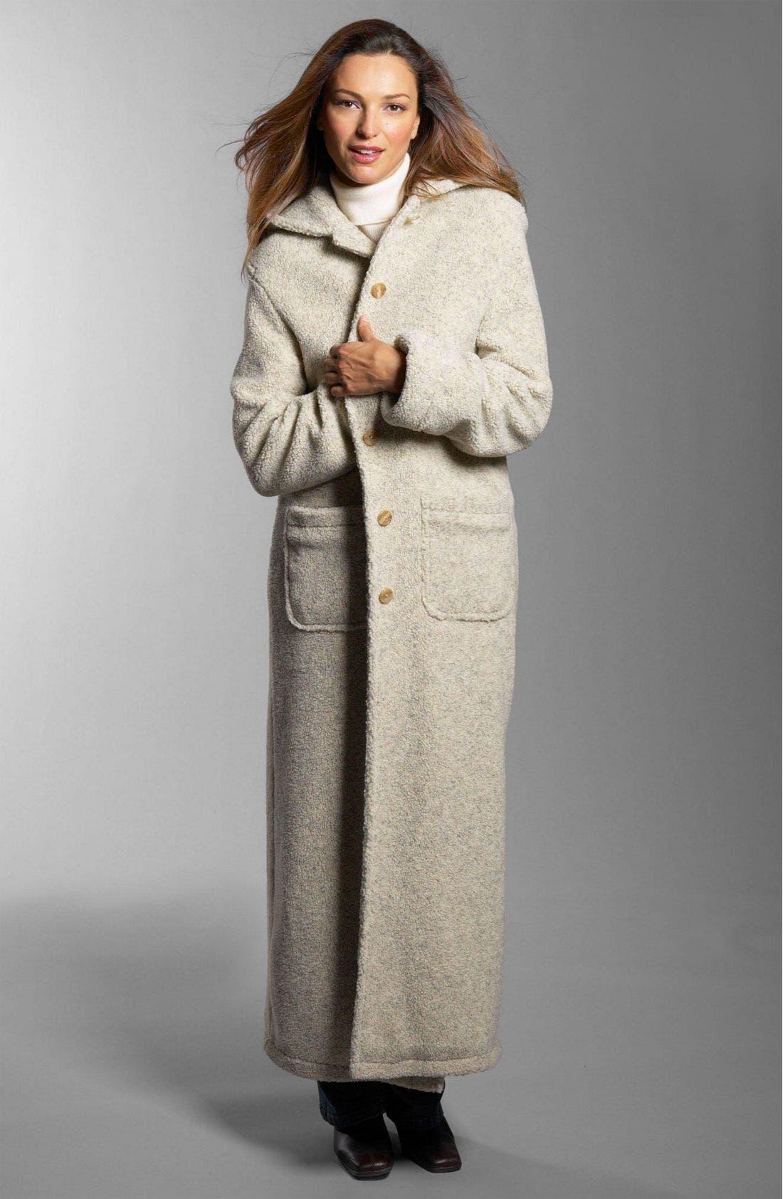 Hooded Berber Fleece Coat,                             Alternate thumbnail 3, color,                             OAT