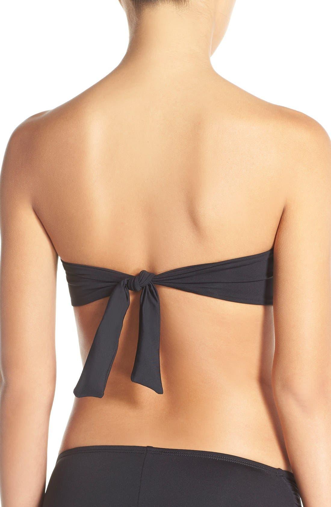 LA BLANCA,                             'Island Goddess' Soft Cup Bikini Top,                             Alternate thumbnail 6, color,                             BLACK