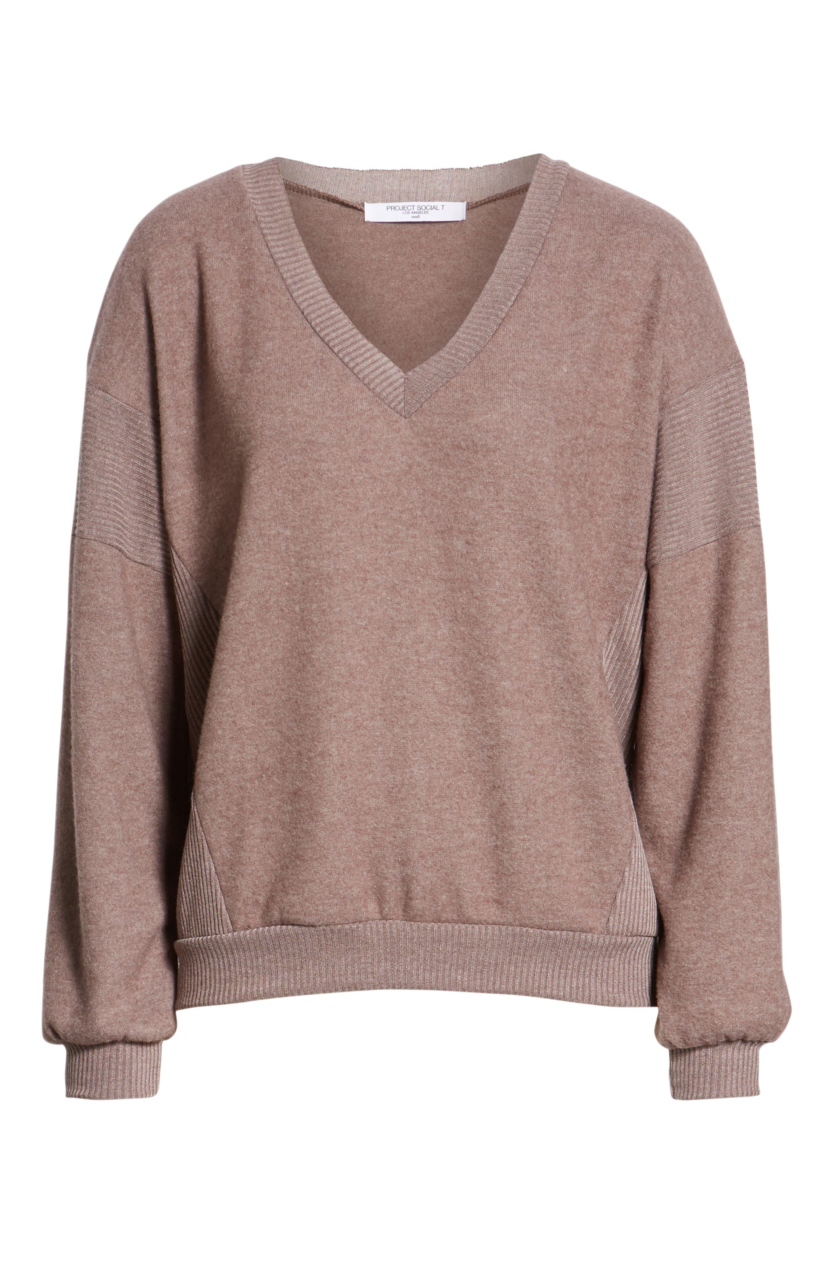 Alsen V-Neck Sweatshirt,                             Alternate thumbnail 6, color,                             250