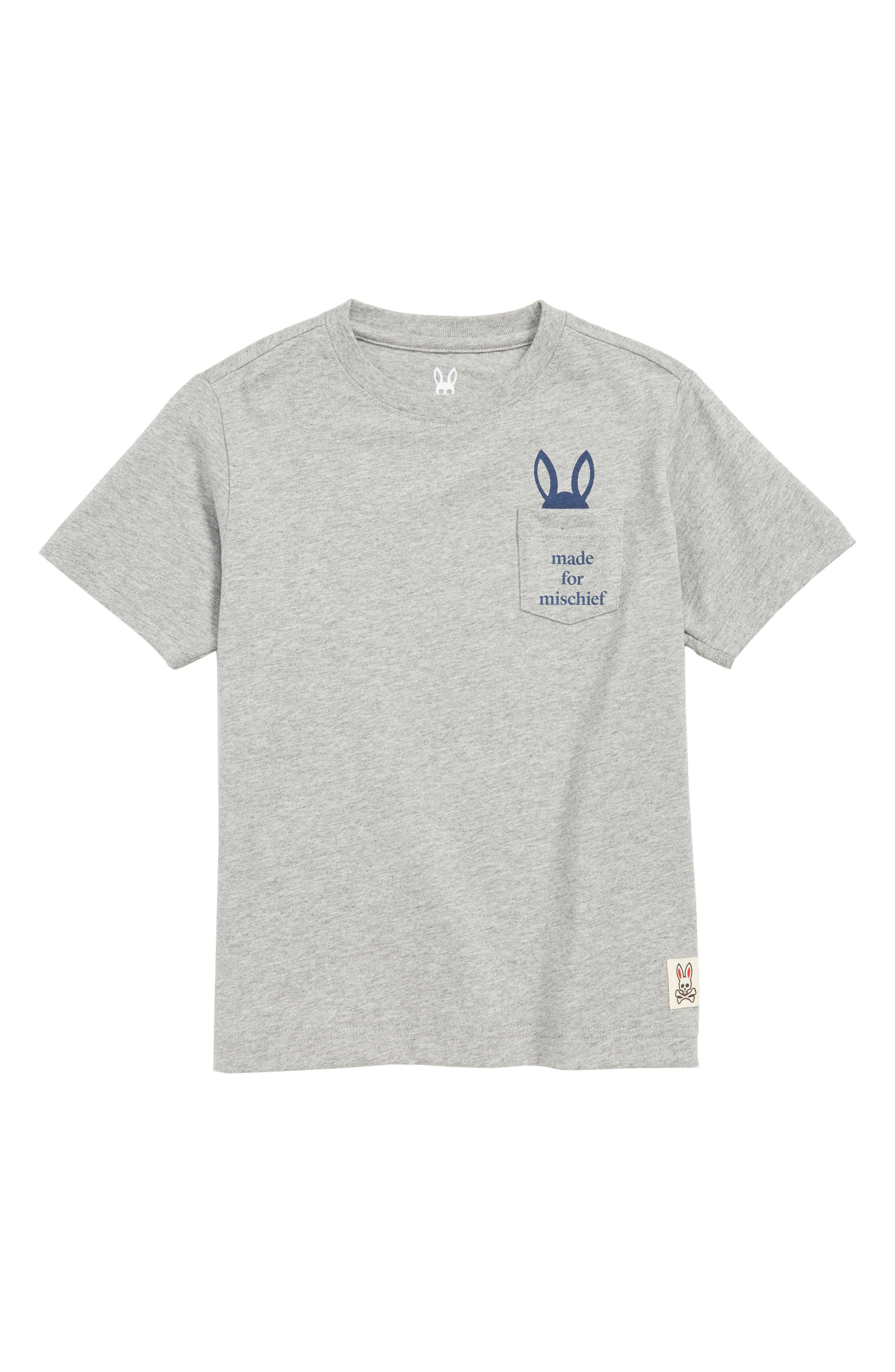 Bywell Graphic Pocket T-Shirt,                             Main thumbnail 1, color,                             HEATHER GREY