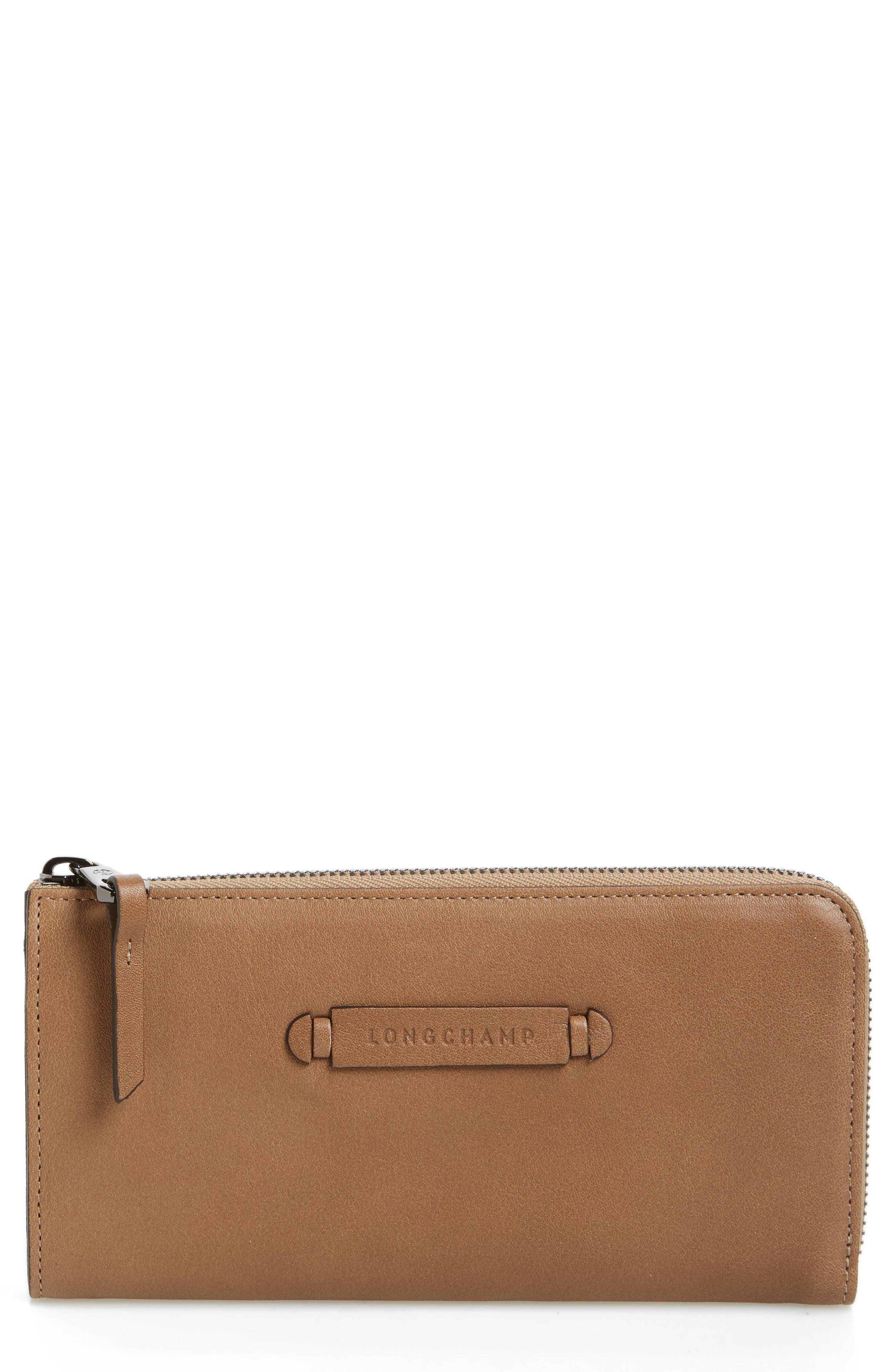 3D Leather Wallet,                         Main,                         color, 250
