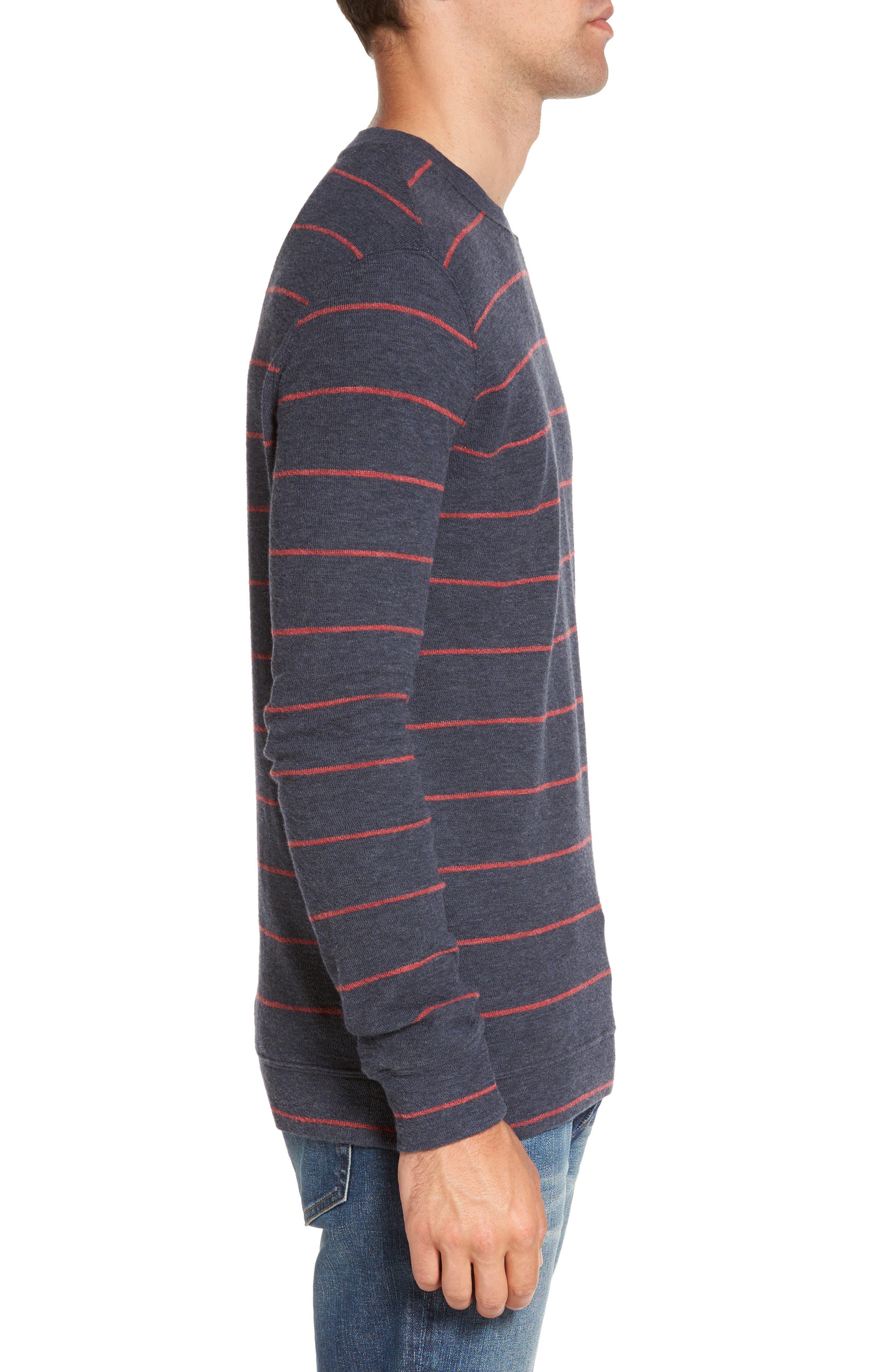 Baird Stripe Crewneck Sweatshirt,                             Alternate thumbnail 3, color,                             412