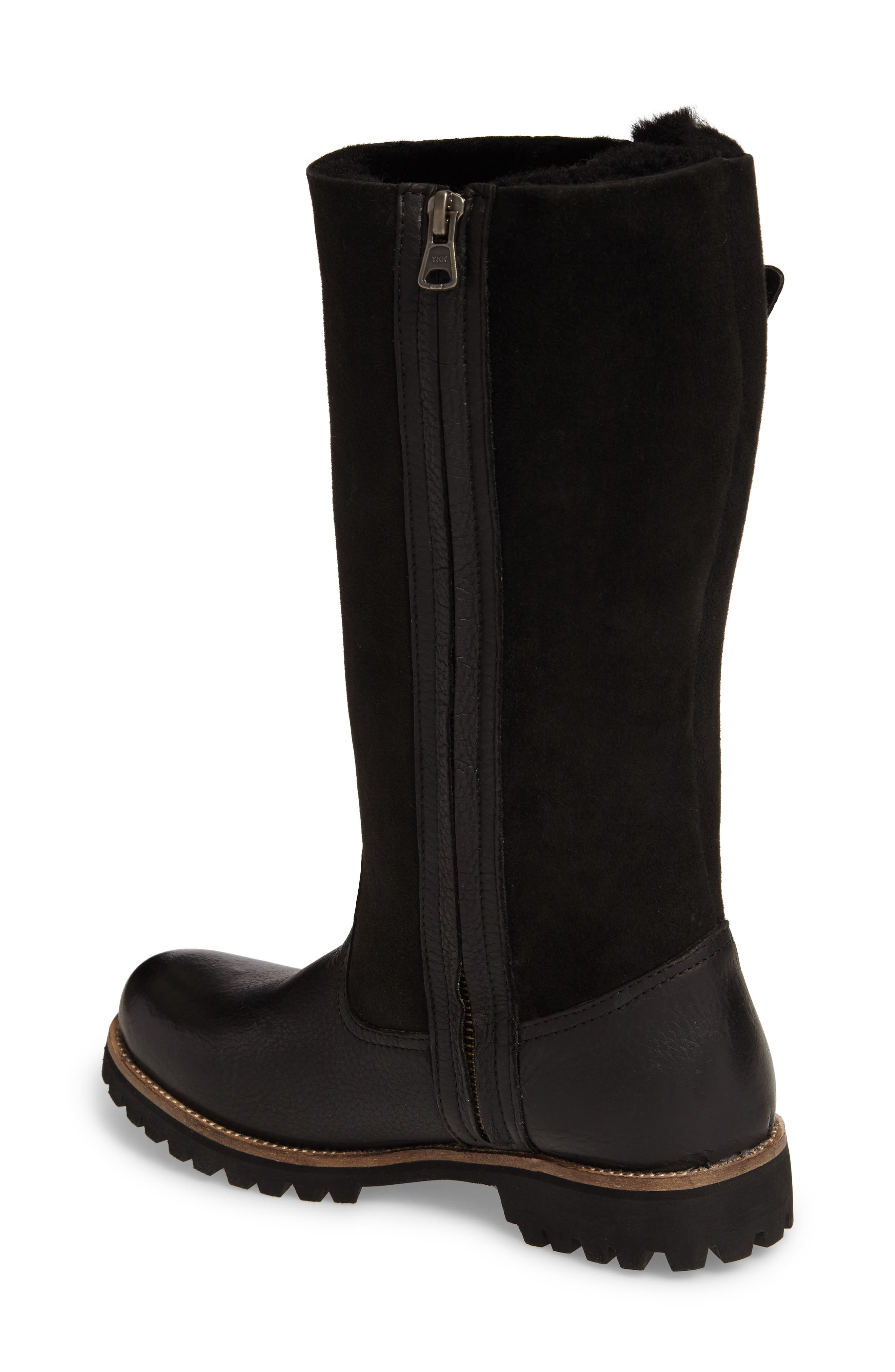 OL04 Tall Boot,                             Alternate thumbnail 2, color,                             BLACK SUEDE