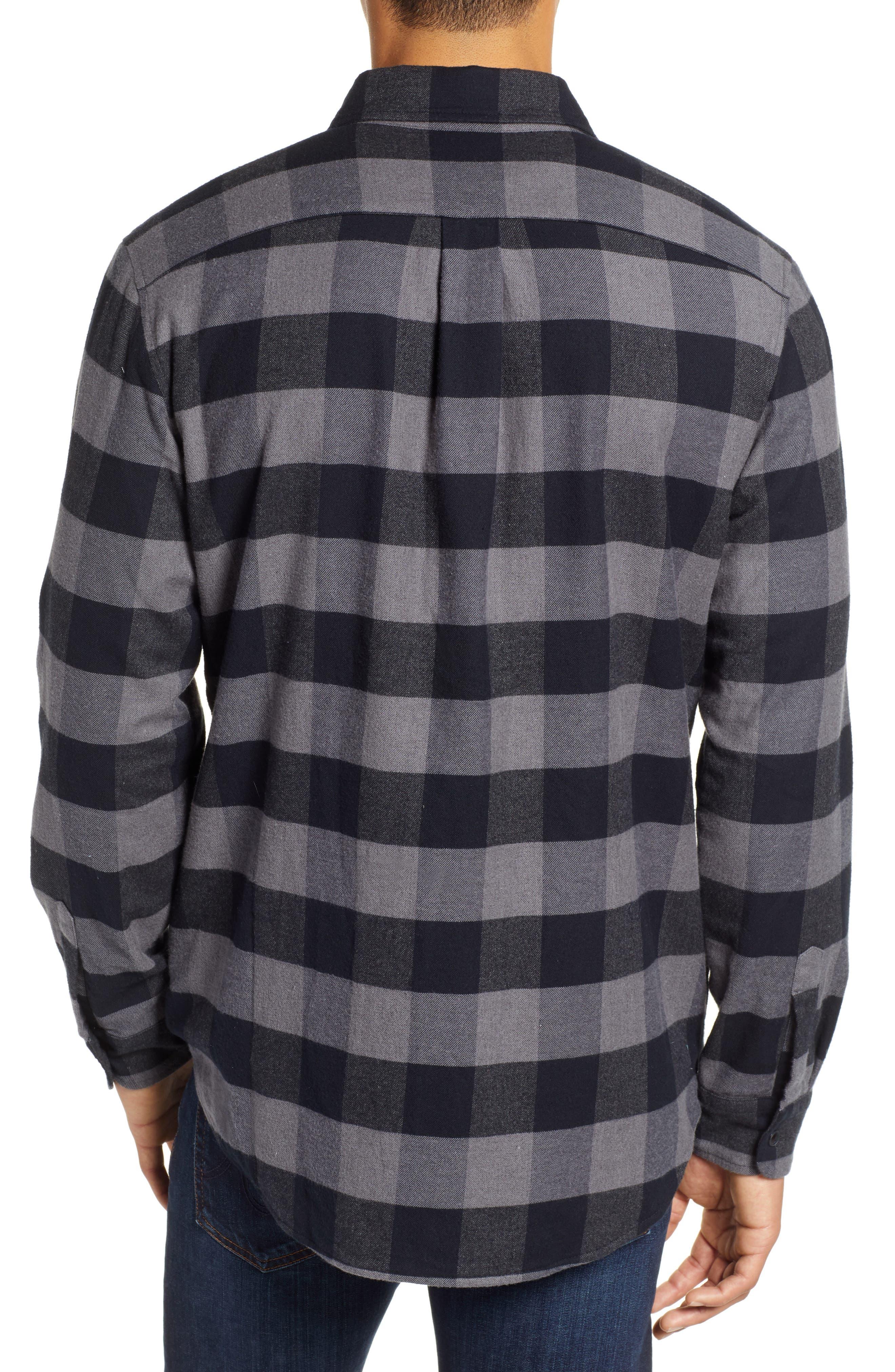Deepwood Regular Fit Lined Flannel Shirt Jacket,                             Alternate thumbnail 3, color,                             EVENING SKY