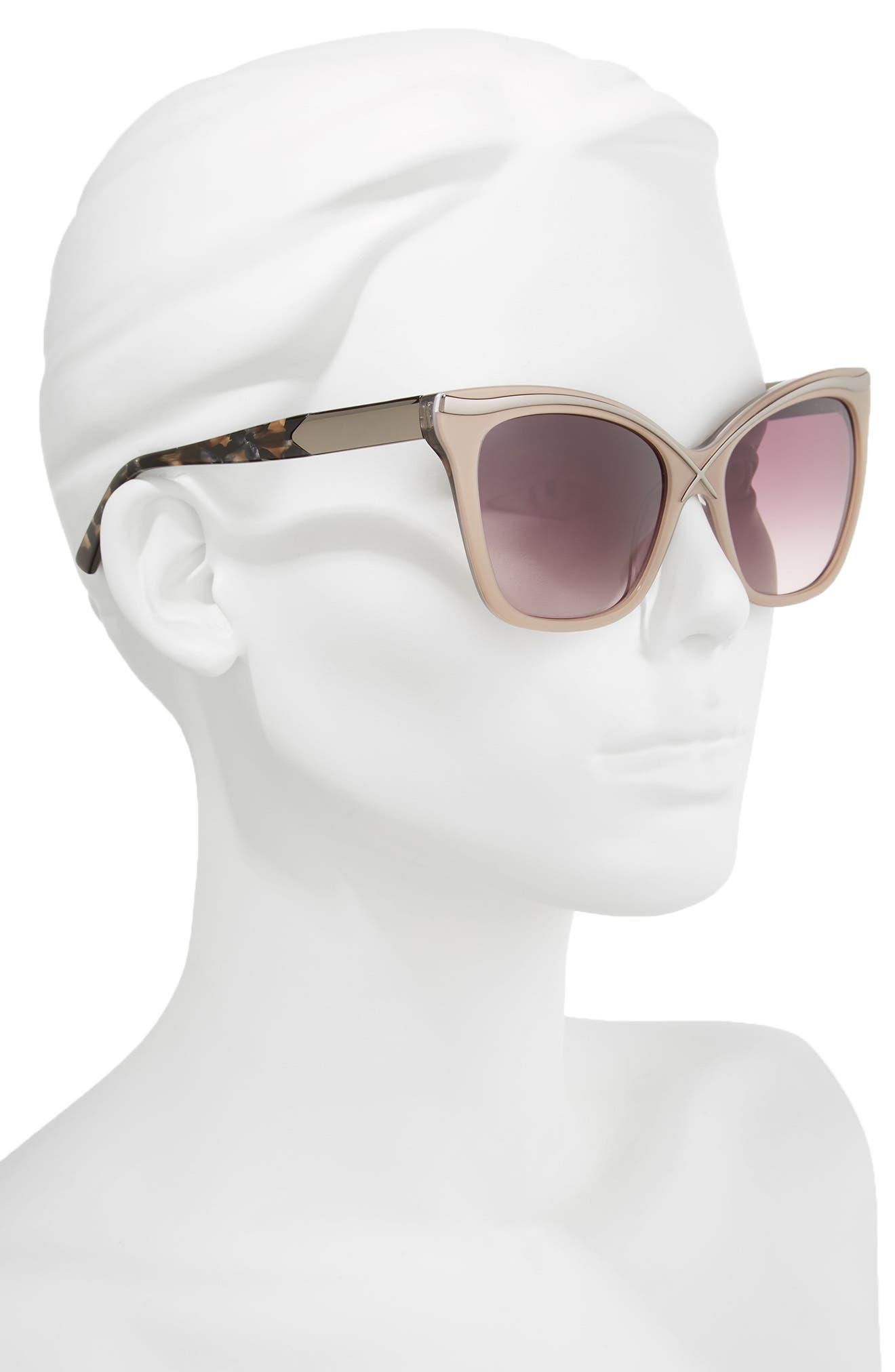 57mm Square Cat Eye Sunglasses,                             Alternate thumbnail 6, color,