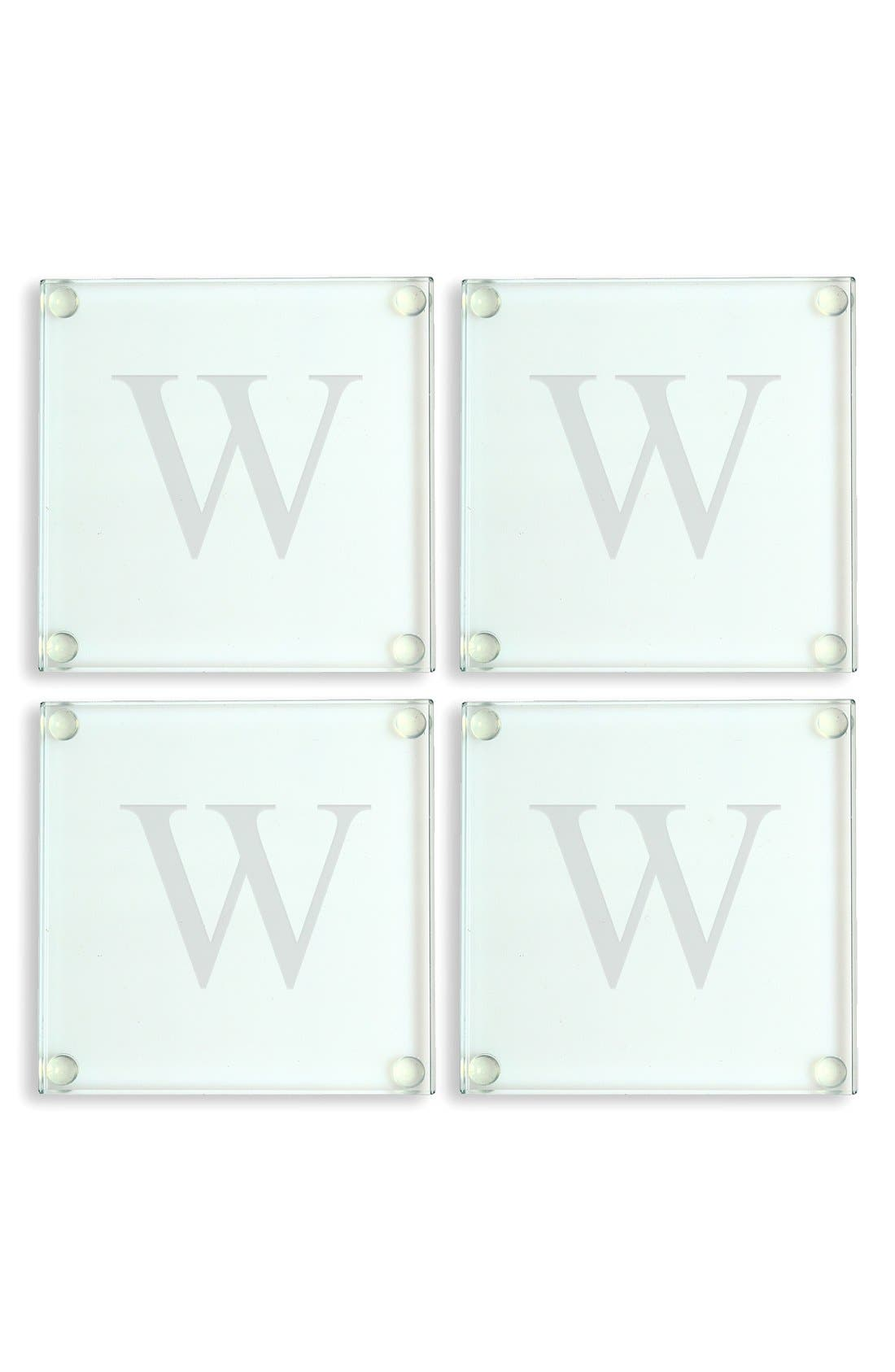 Monogram Glass Coasters,                             Alternate thumbnail 28, color,