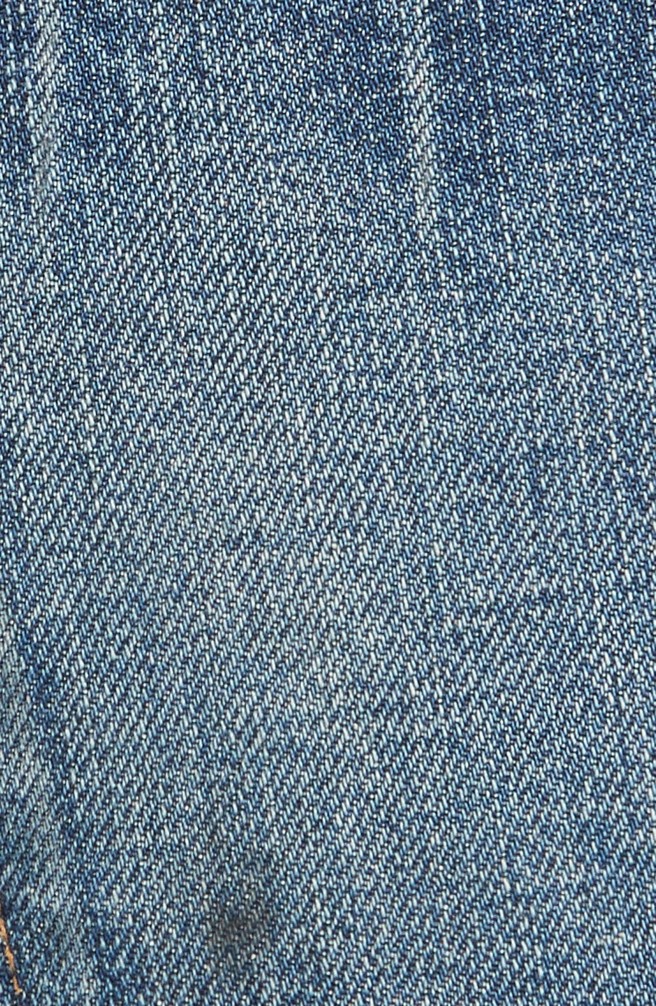 Marlene Corset Waist Straight Leg Jeans,                             Alternate thumbnail 6, color,                             TERRAIN