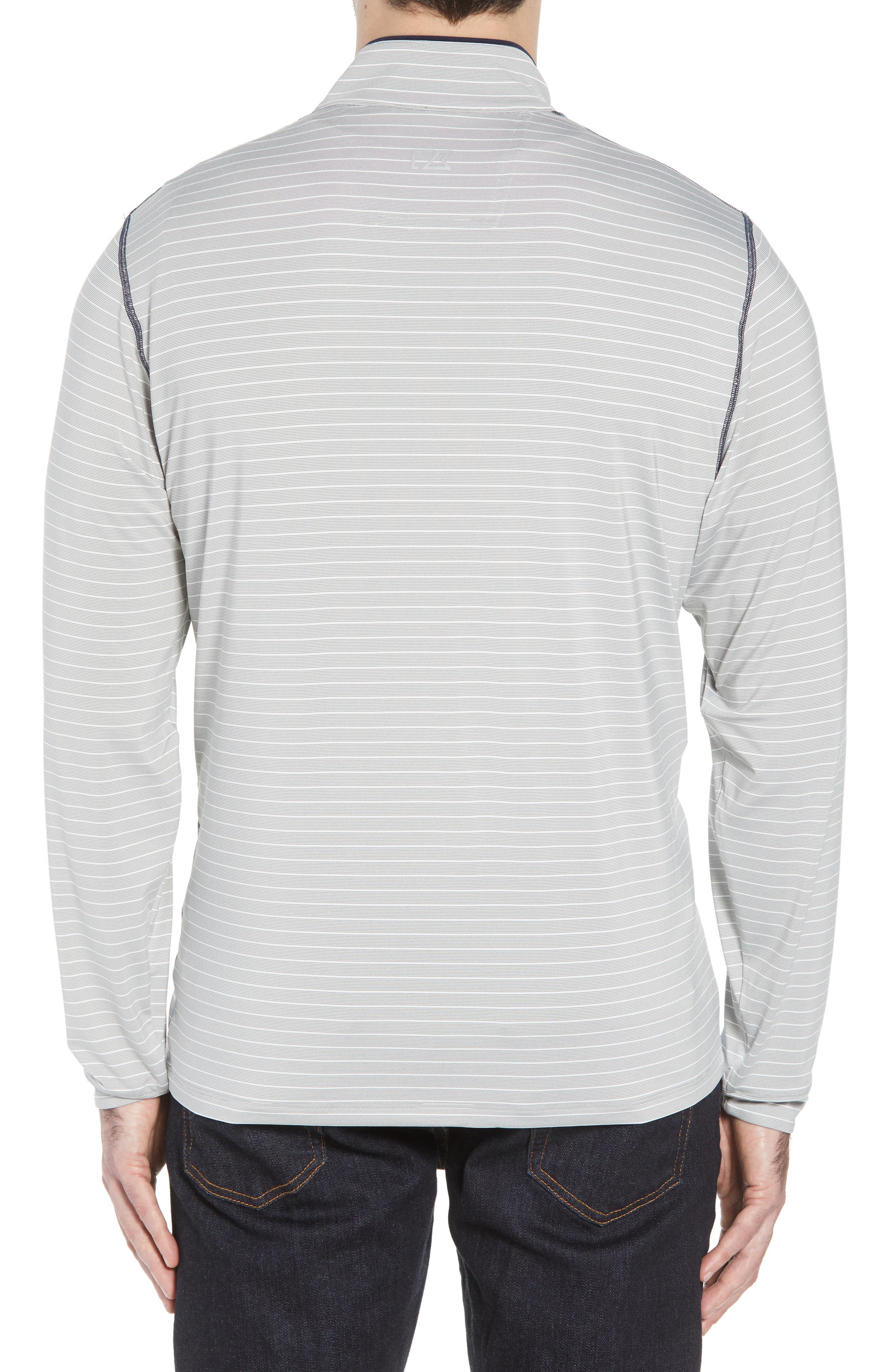Los Angeles Rams - Meridian Half Zip Pullover,                             Alternate thumbnail 2, color,                             NAVY