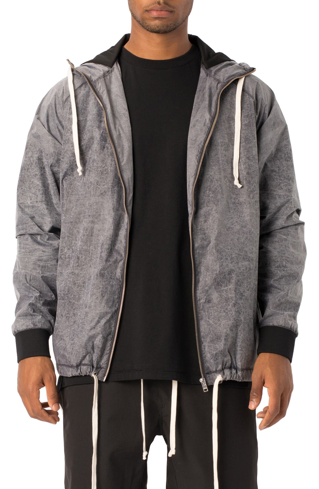 Storm Spray Hooded Jacket,                         Main,                         color, SCRATCHED GREY