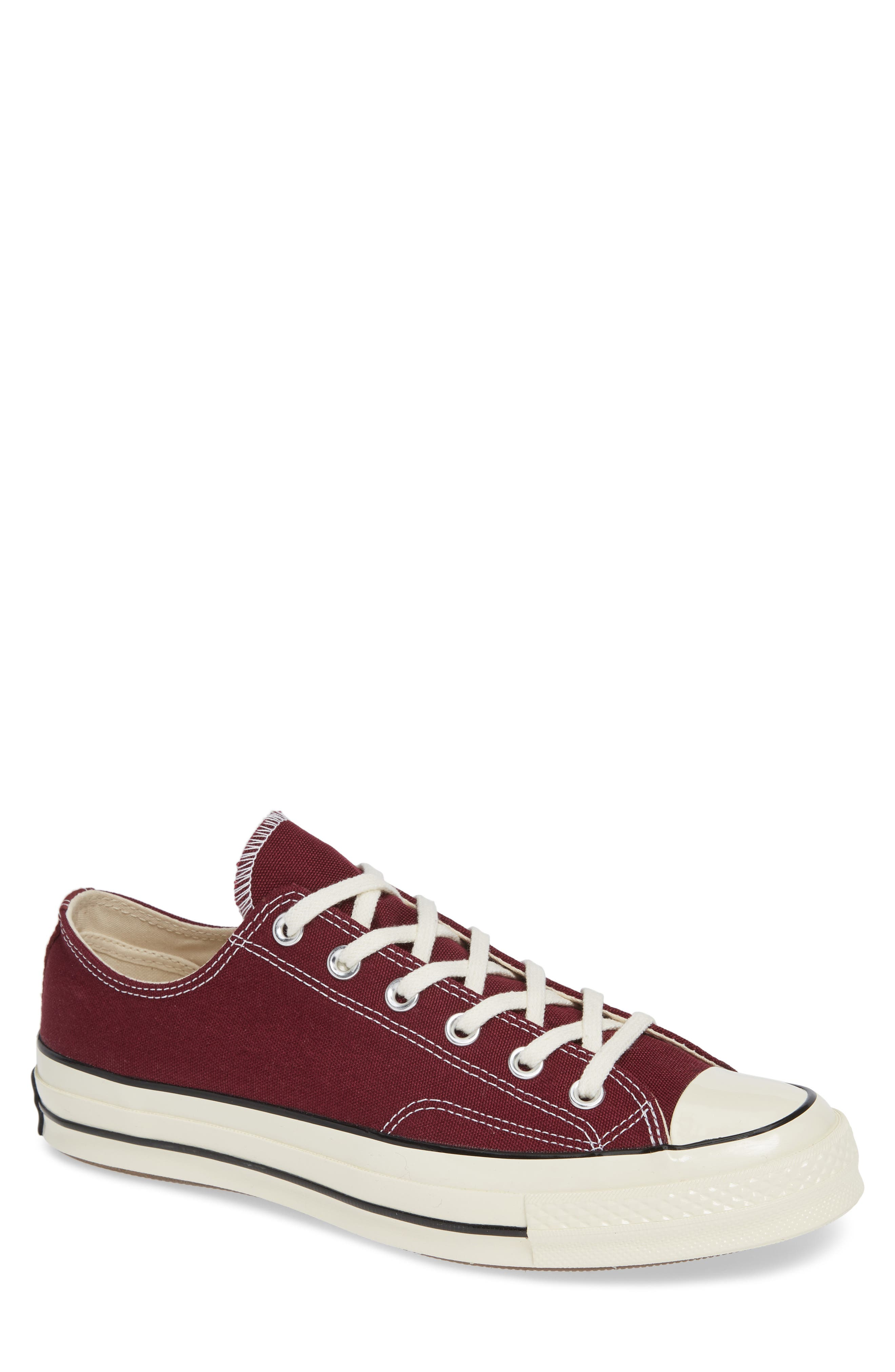 Chuck Taylor<sup>®</sup> All Star<sup>®</sup> 70 Low Top Sneaker,                         Main,                         color, BURGUNDY