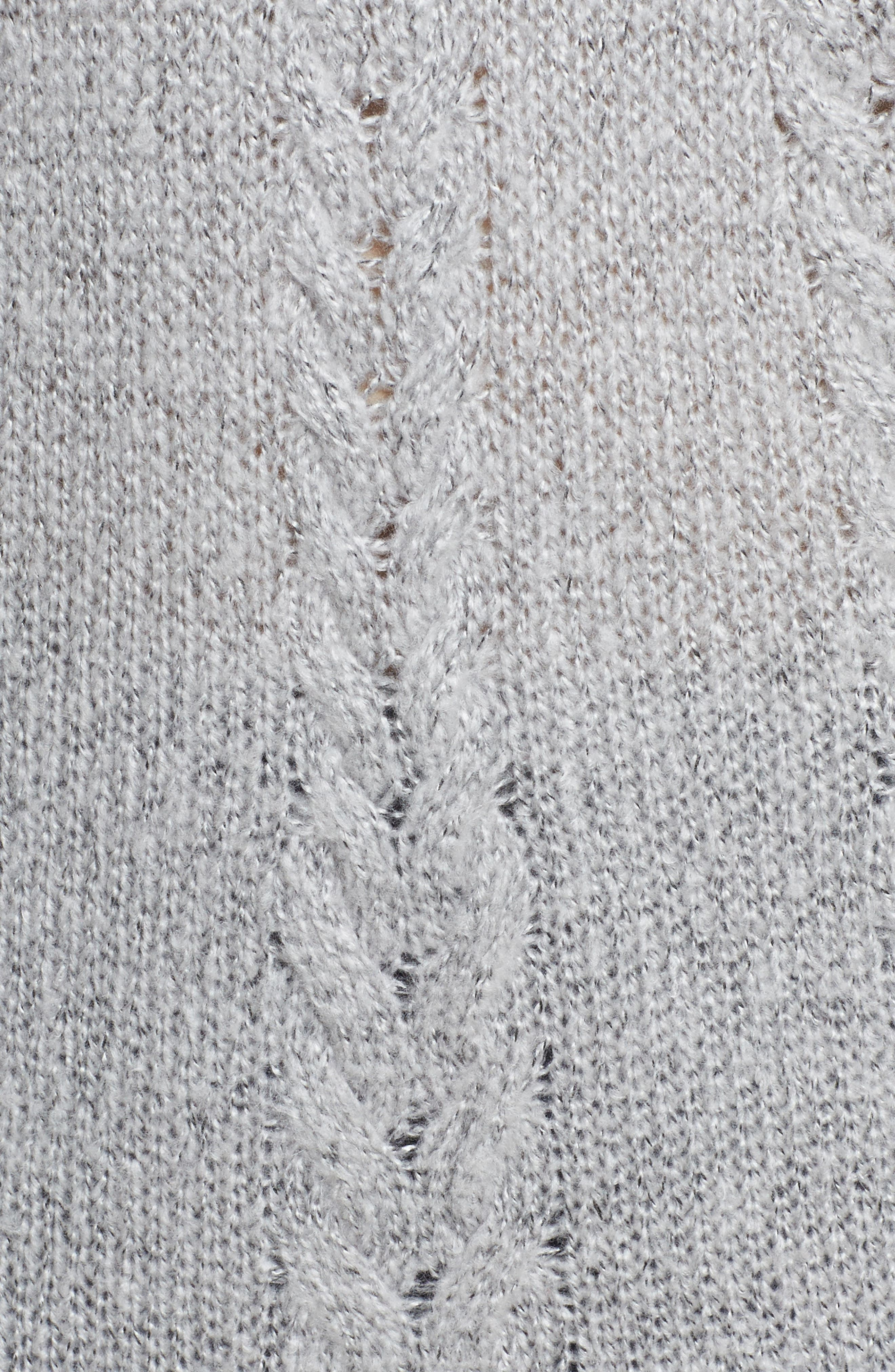 Cable Knit Tunic Sweater,                             Alternate thumbnail 5, color,                             030