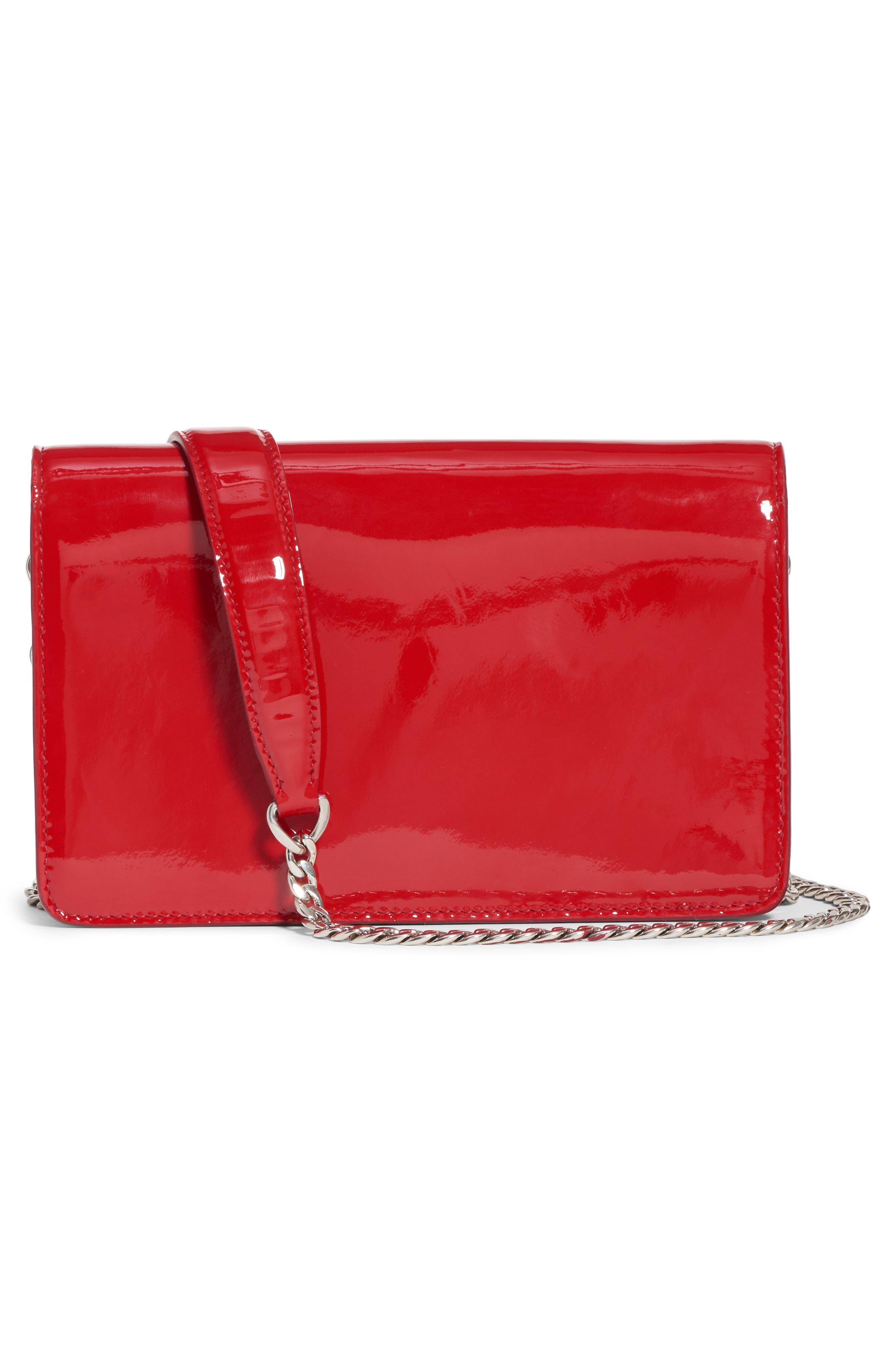 Vernice Crystal Logo Patent Leather Shoulder Bag,                             Alternate thumbnail 2, color,                             600