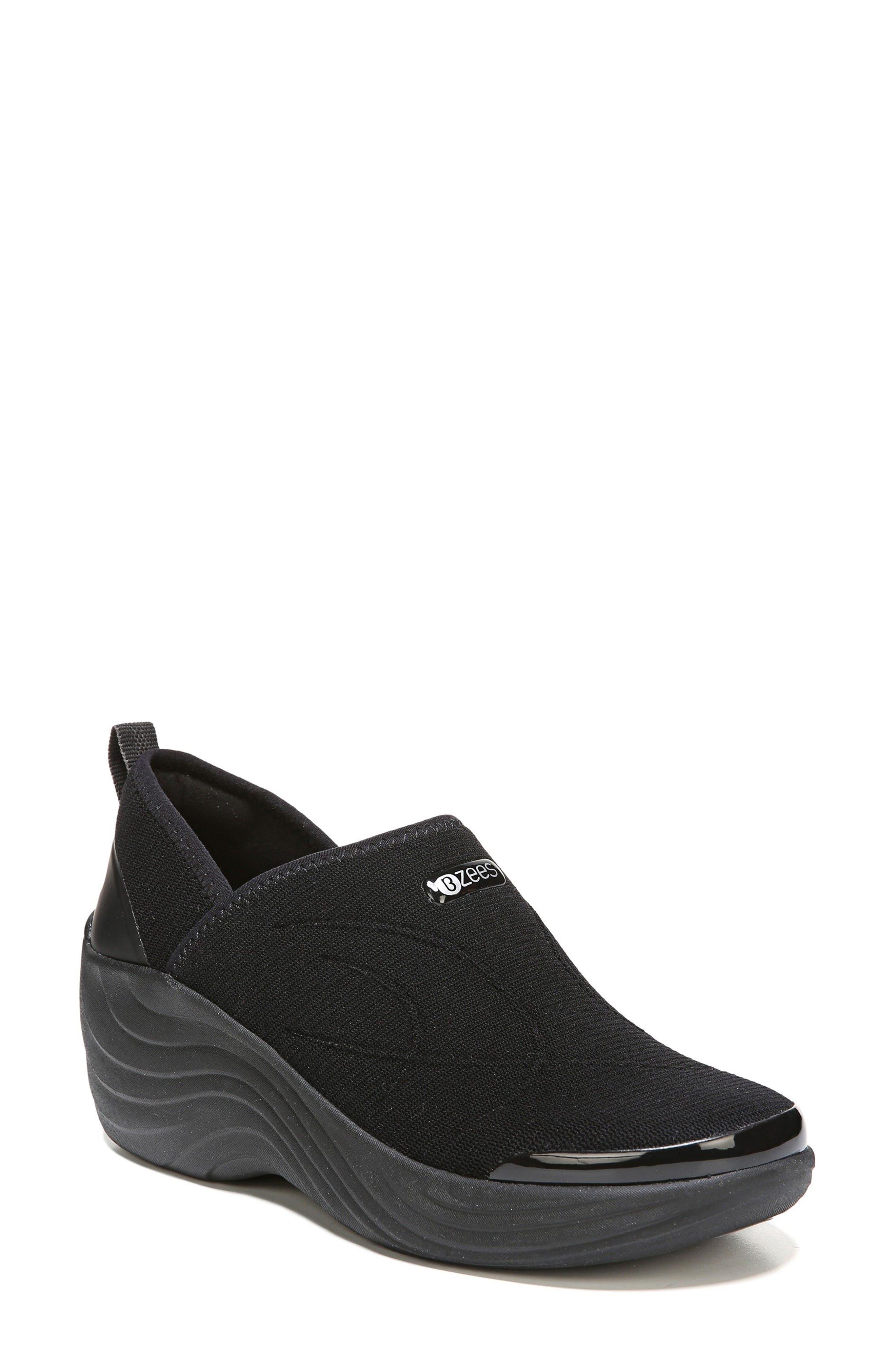 Zsa Zsa Wedge Sneaker,                             Main thumbnail 1, color,                             BLACK FABRIC