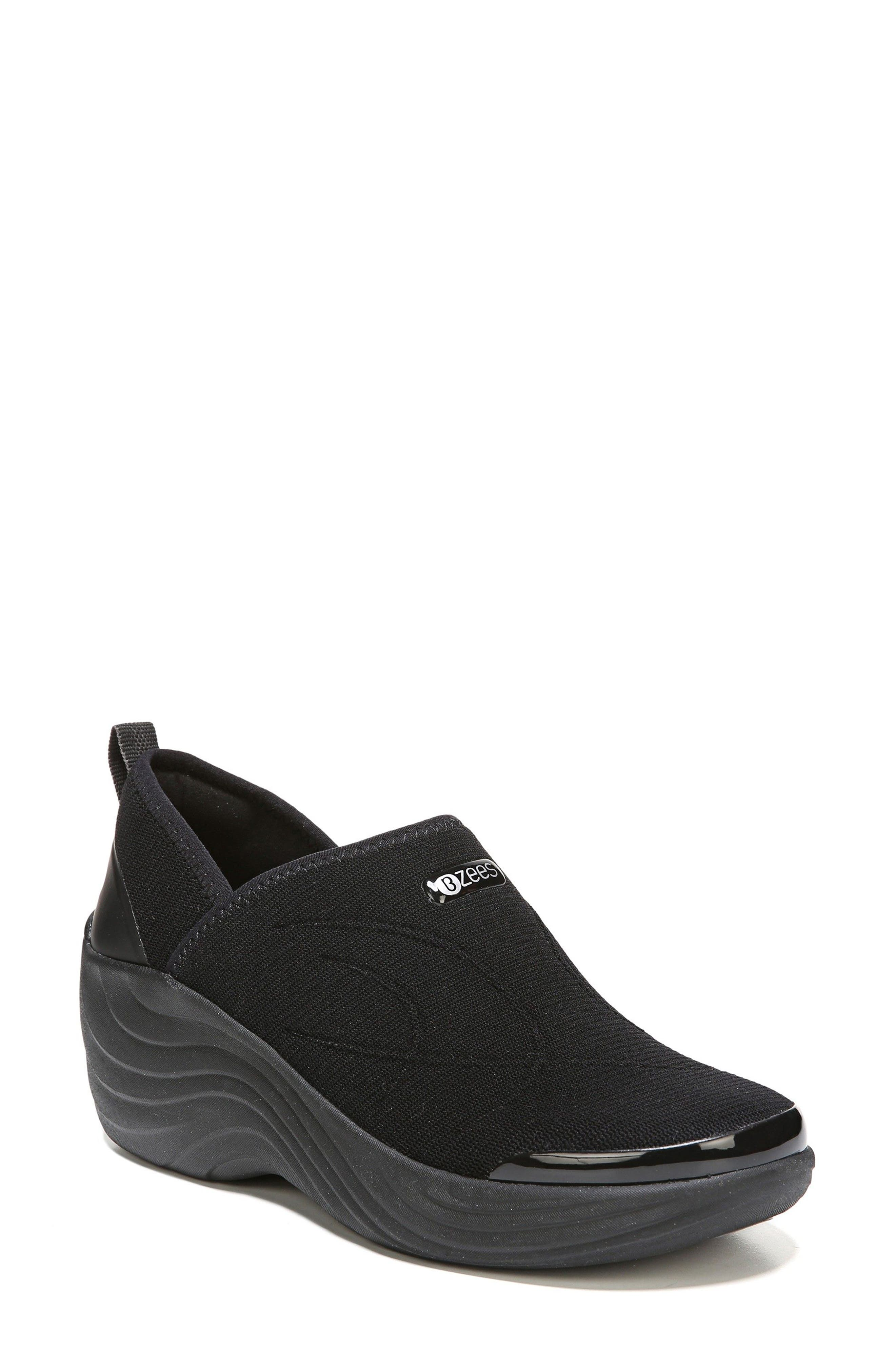 Zsa Zsa Wedge Sneaker,                         Main,                         color, BLACK FABRIC