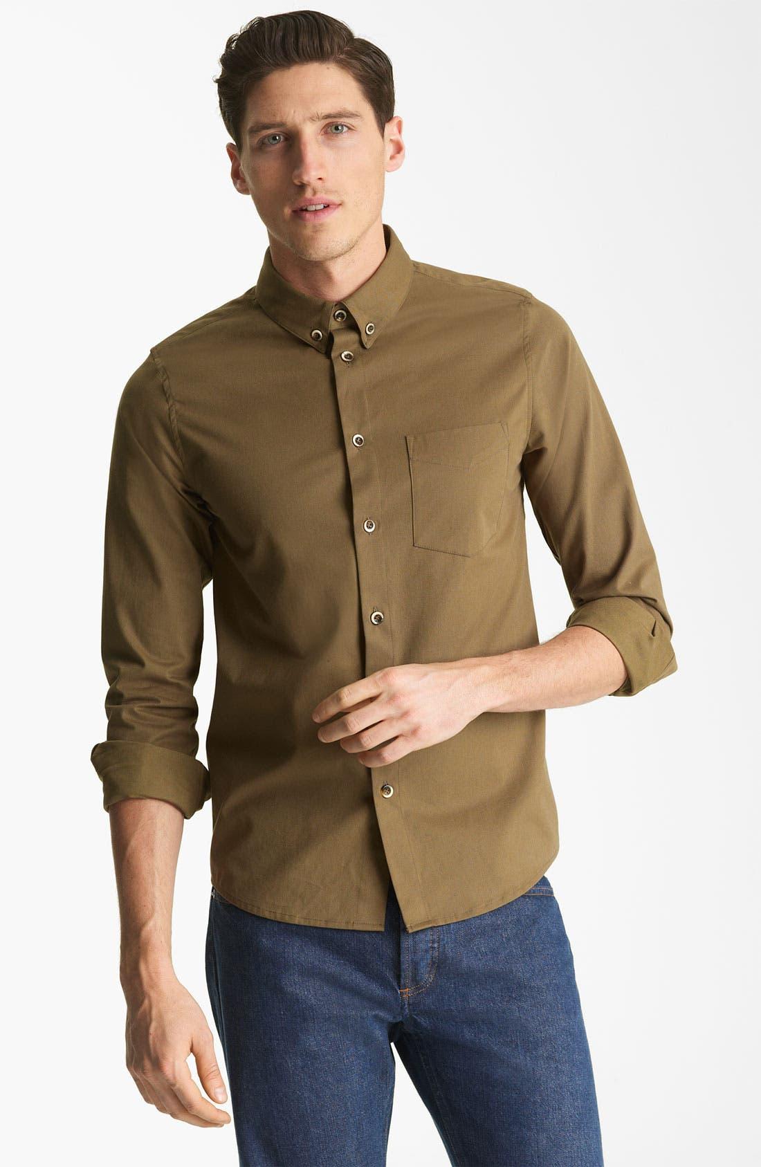 'Fluide' Woven Shirt,                             Main thumbnail 1, color,                             250