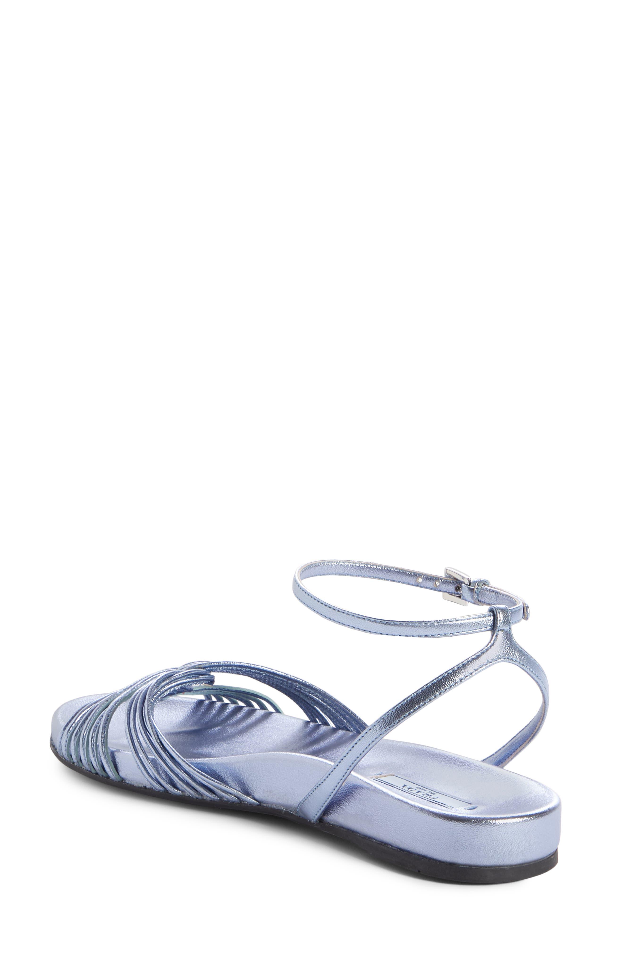 Roping Sandal,                             Alternate thumbnail 2, color,                             BLUE LEATHER
