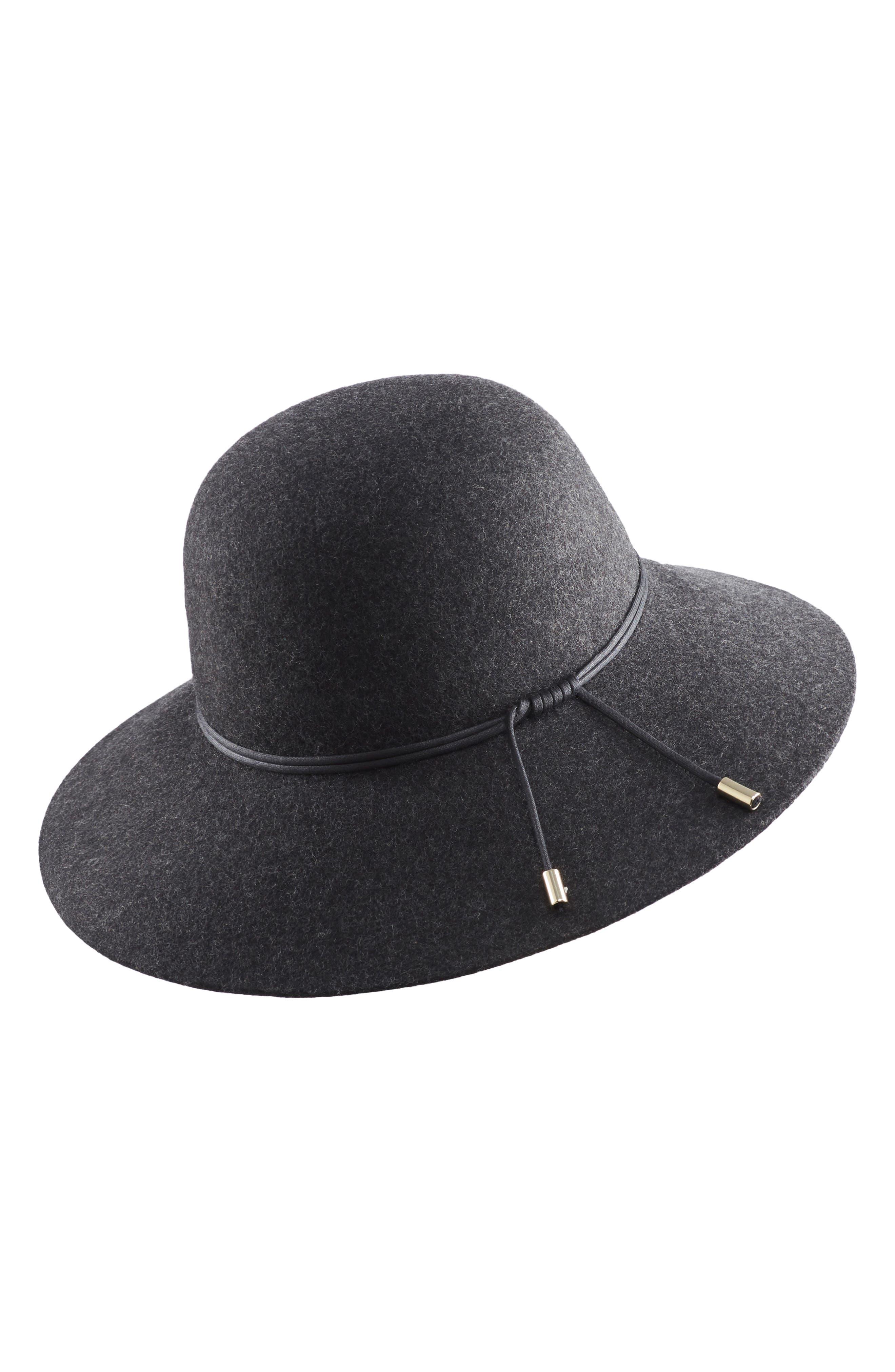 HELEN KAMINSKI Wool Hat - Black in Knight Melange/ Black