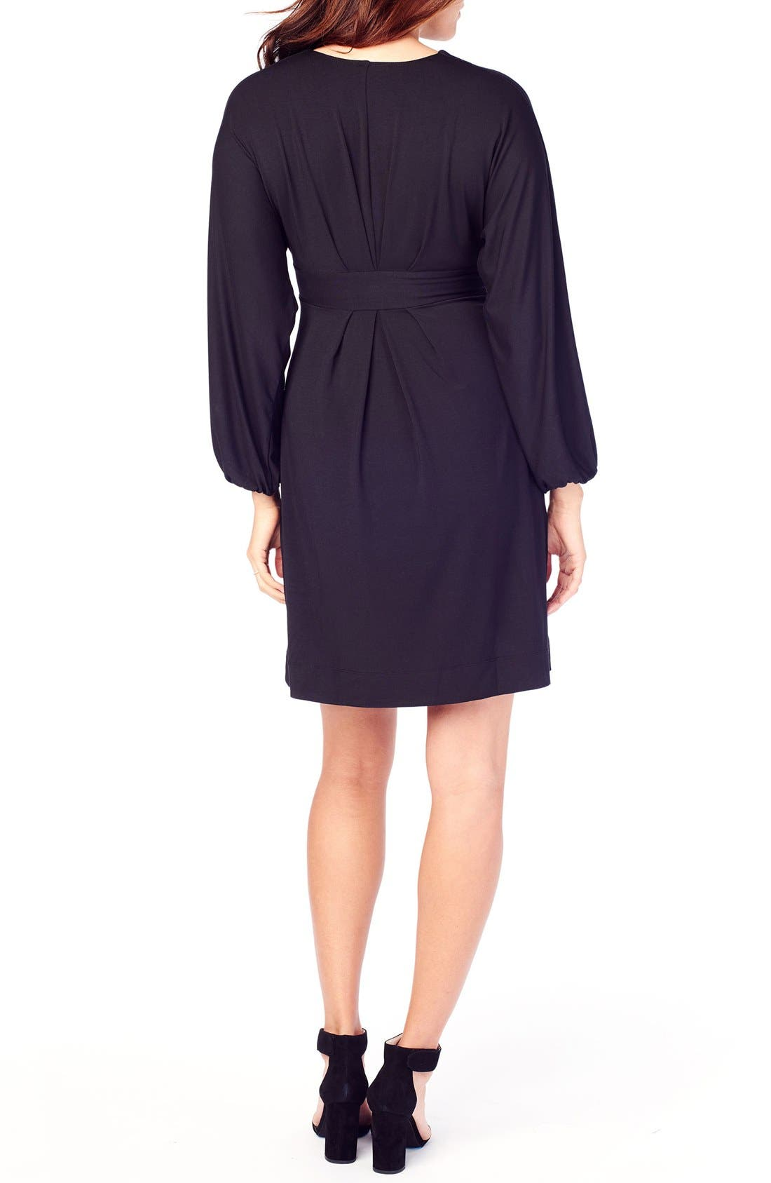 INGRID & ISABEL<SUP>®</SUP>,                             Ingrid & Isabel Jersey Maternity Dress,                             Alternate thumbnail 4, color,                             001