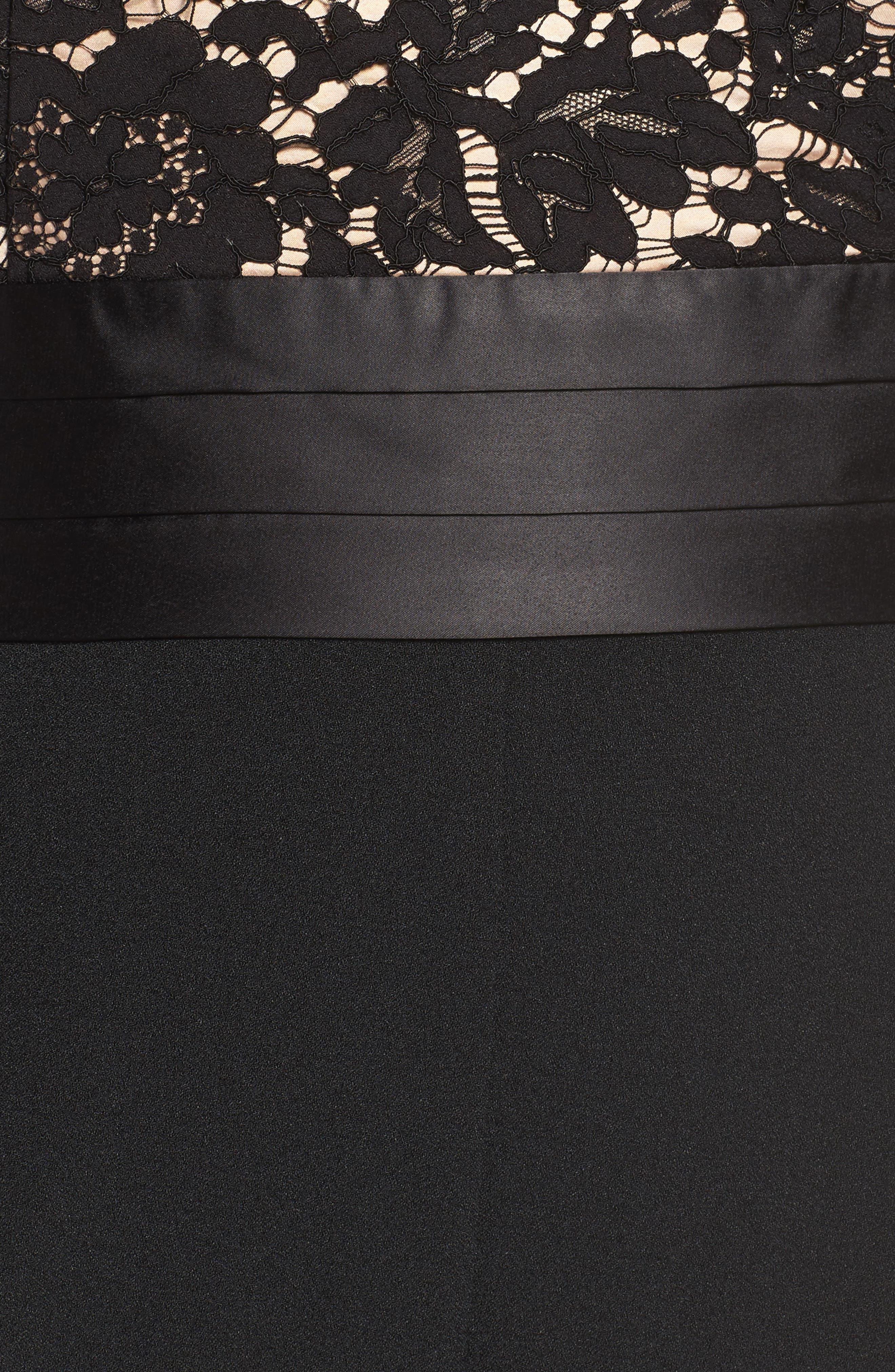 Lace Bodice Jumpsuit,                             Alternate thumbnail 5, color,                             001