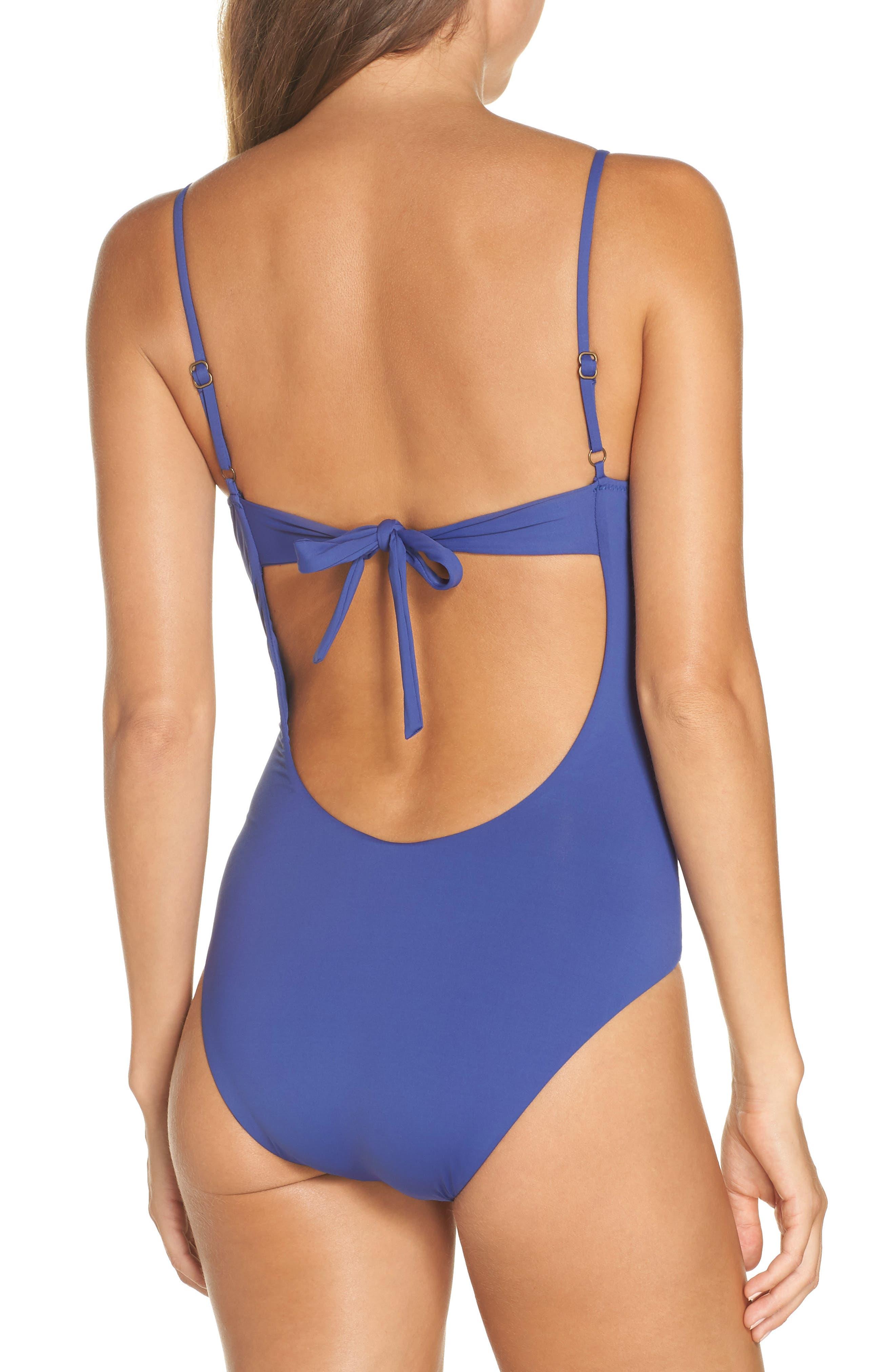 Delilah One-Piece Swimsuit,                             Alternate thumbnail 2, color,                             BLUE TOPAZ