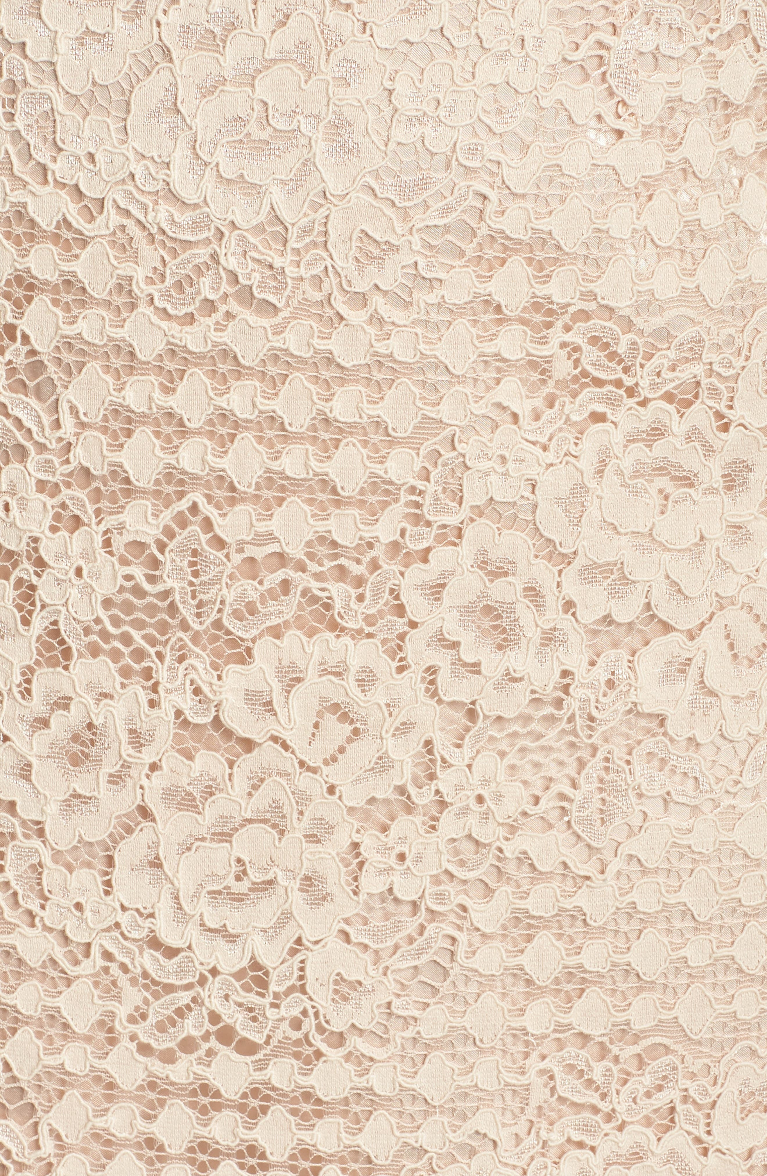 Ruched Sleeve Lace Dress,                             Alternate thumbnail 12, color,                             PINK BLUSH