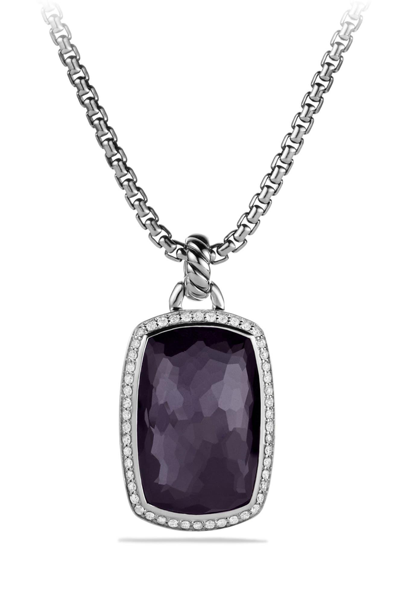 'Albion' Pendant with Semiprecious Stone and Diamonds,                             Alternate thumbnail 6, color,