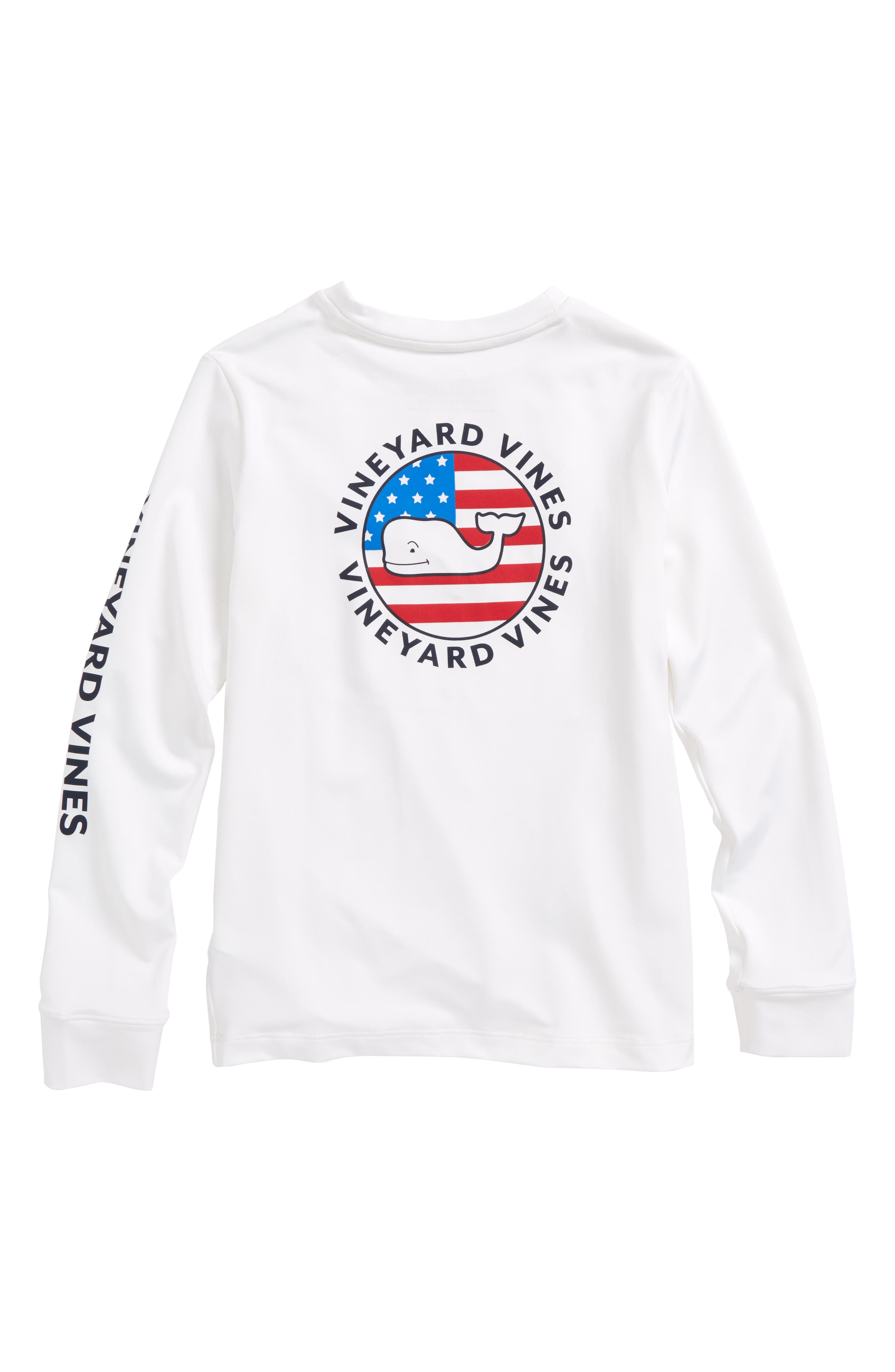 Performance Patriot Dot T-Shirt,                             Alternate thumbnail 2, color,                             100