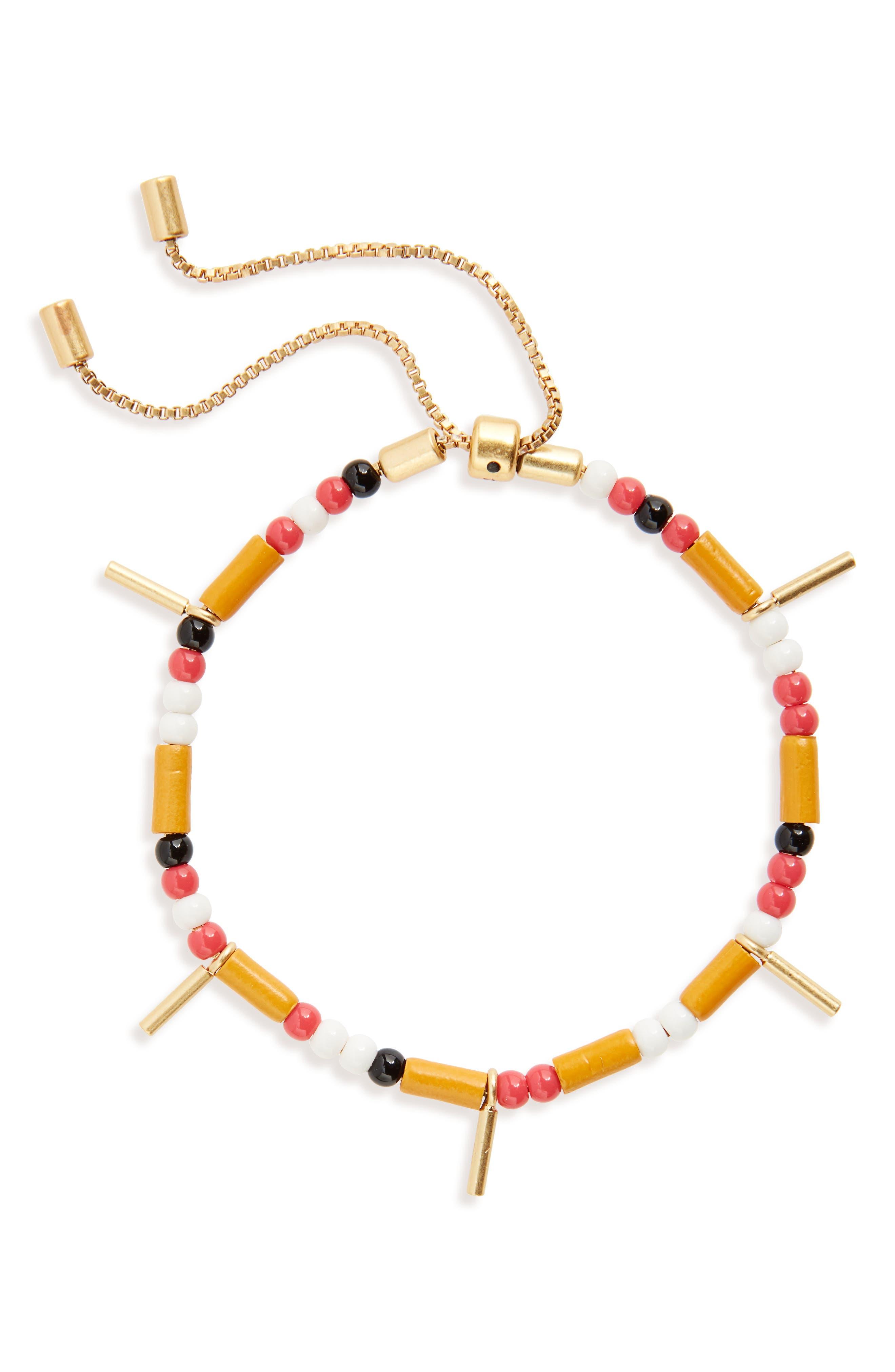 Mixed Bead Stretch Bracelet,                             Main thumbnail 1, color,                             700