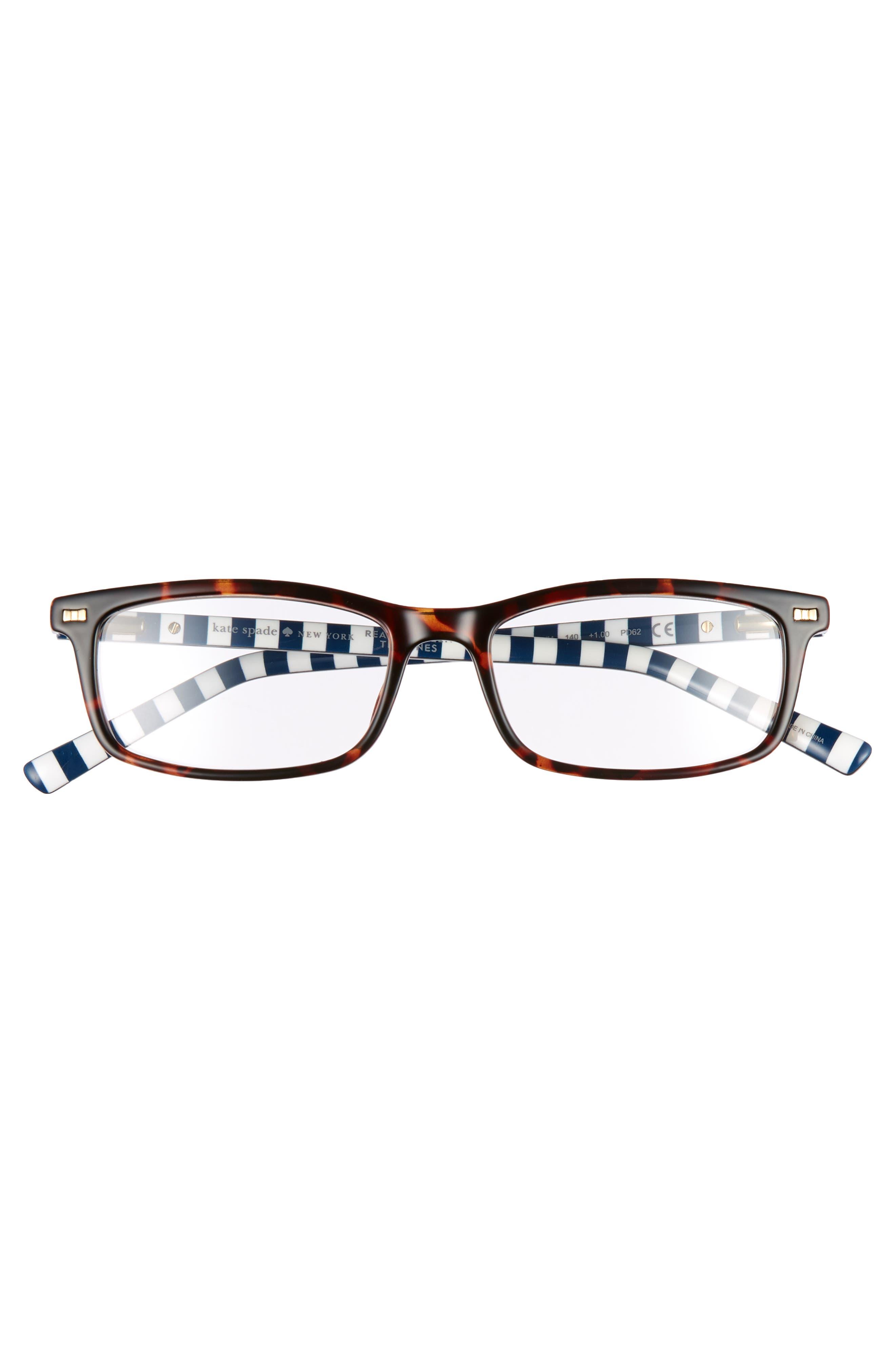 jodie 50mm rectangular reading glasses,                             Alternate thumbnail 3, color,                             HAVANA PATTERN