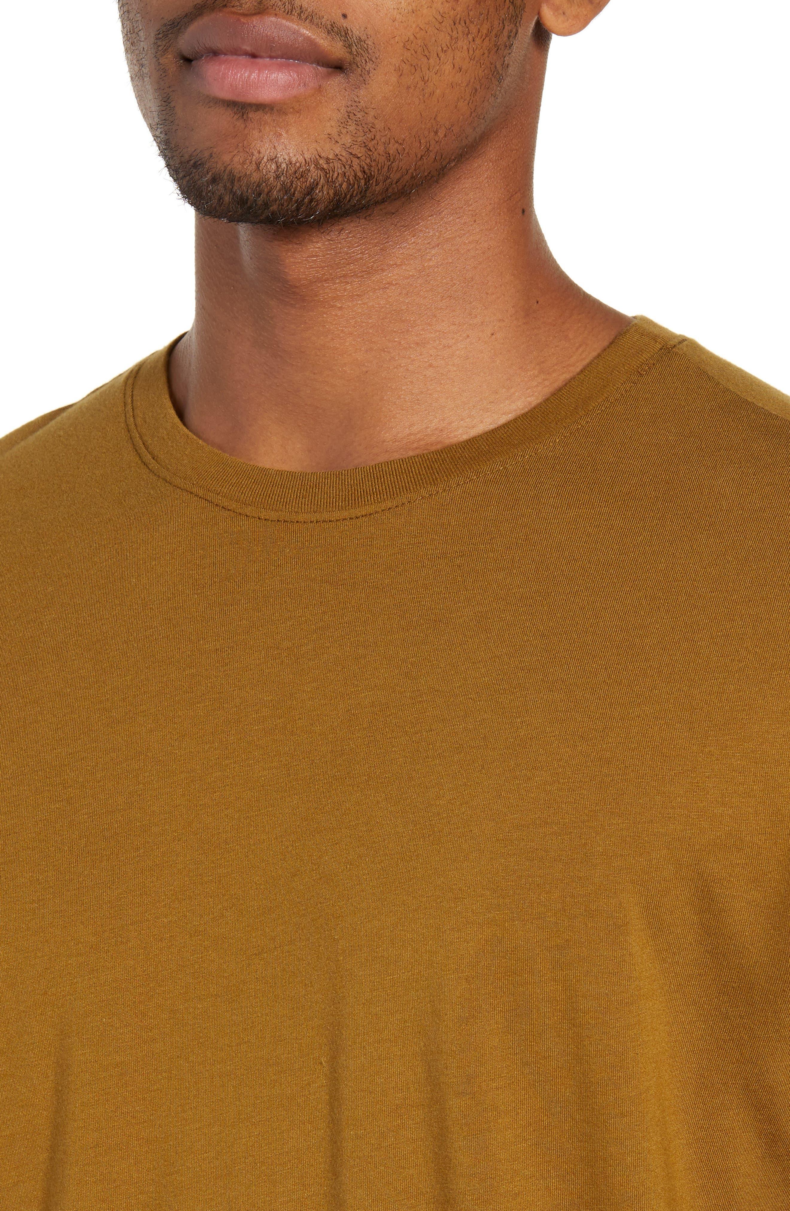 Bryce Slim Fit T-Shirt,                             Alternate thumbnail 4, color,                             GOLDEN OLIVE