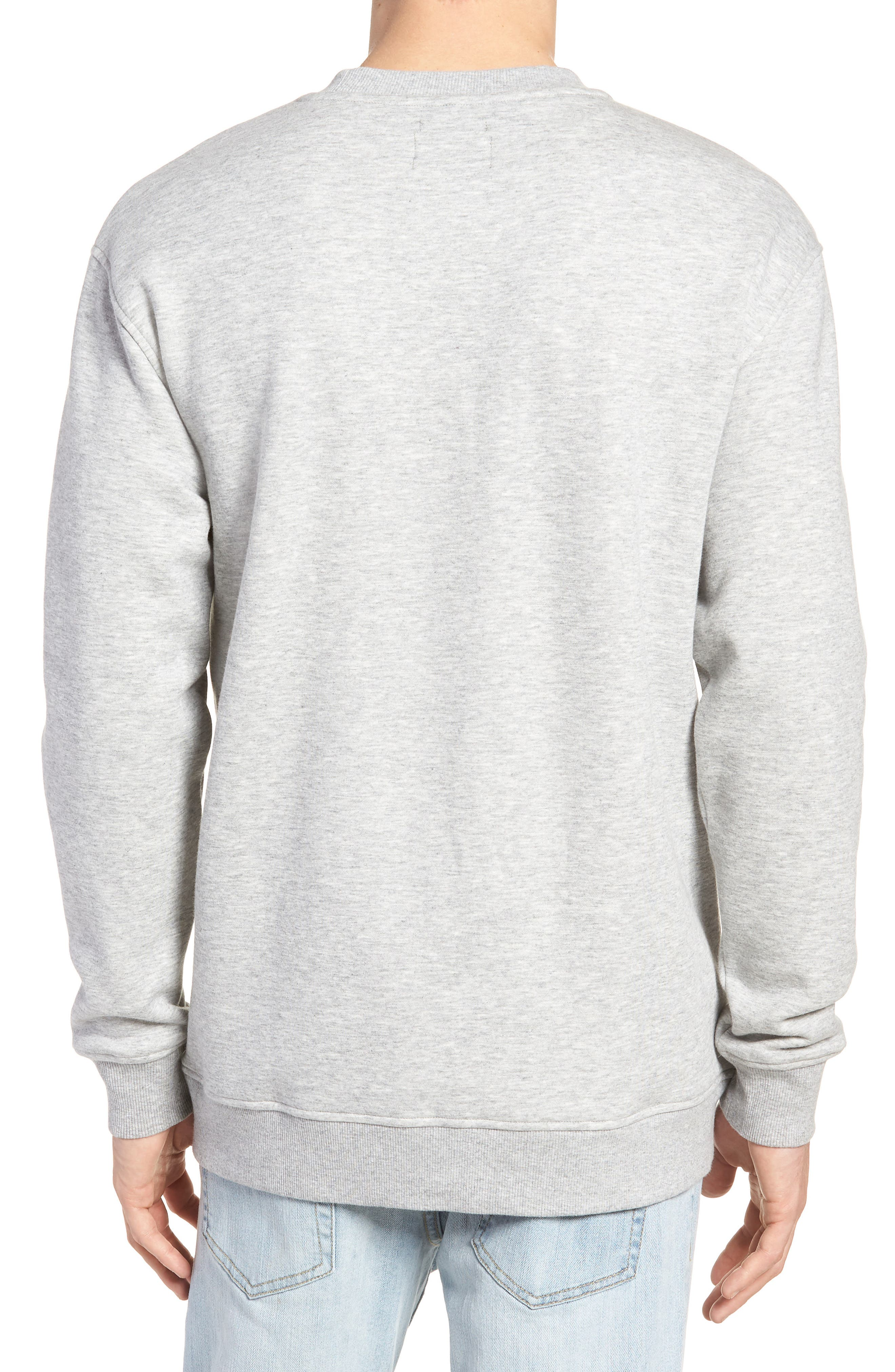 Tommy Classics Crewneck Sweatshirt,                             Alternate thumbnail 2, color,                             LIGHT GREY HEATHER