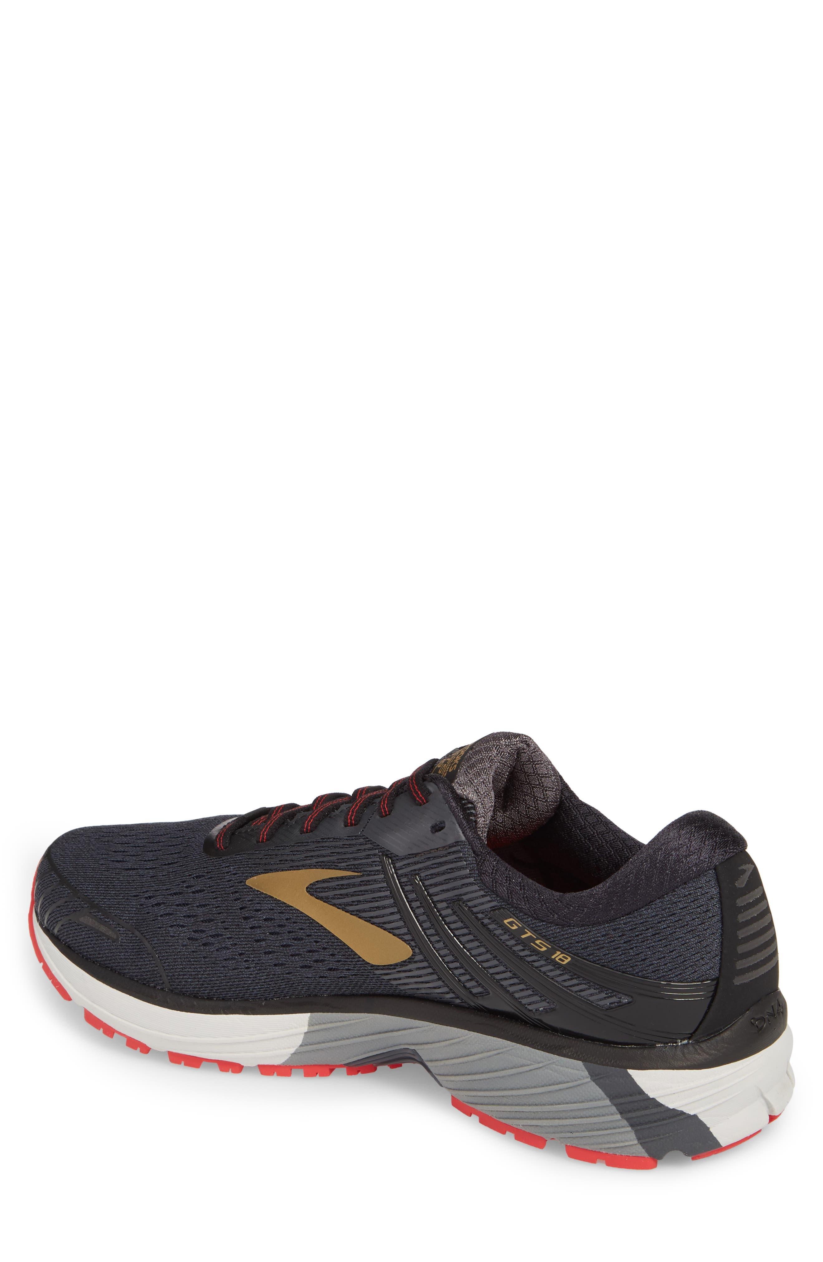 Adrenaline GTS 18 Running Shoe,                             Alternate thumbnail 2, color,                             BLACK/ GOLD/ RED