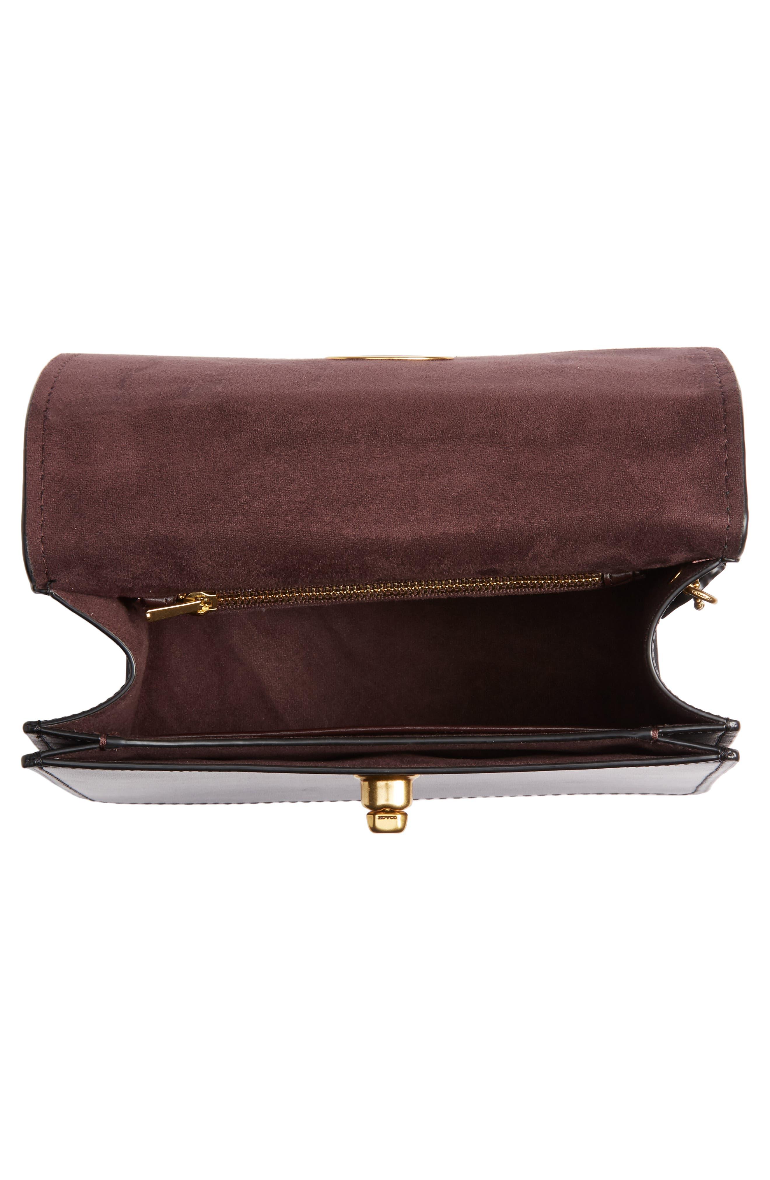 COACH,                             Parker Signature Canvas & Leather Top Handle Shoulder Bag,                             Alternate thumbnail 4, color,                             B4/ BLACK