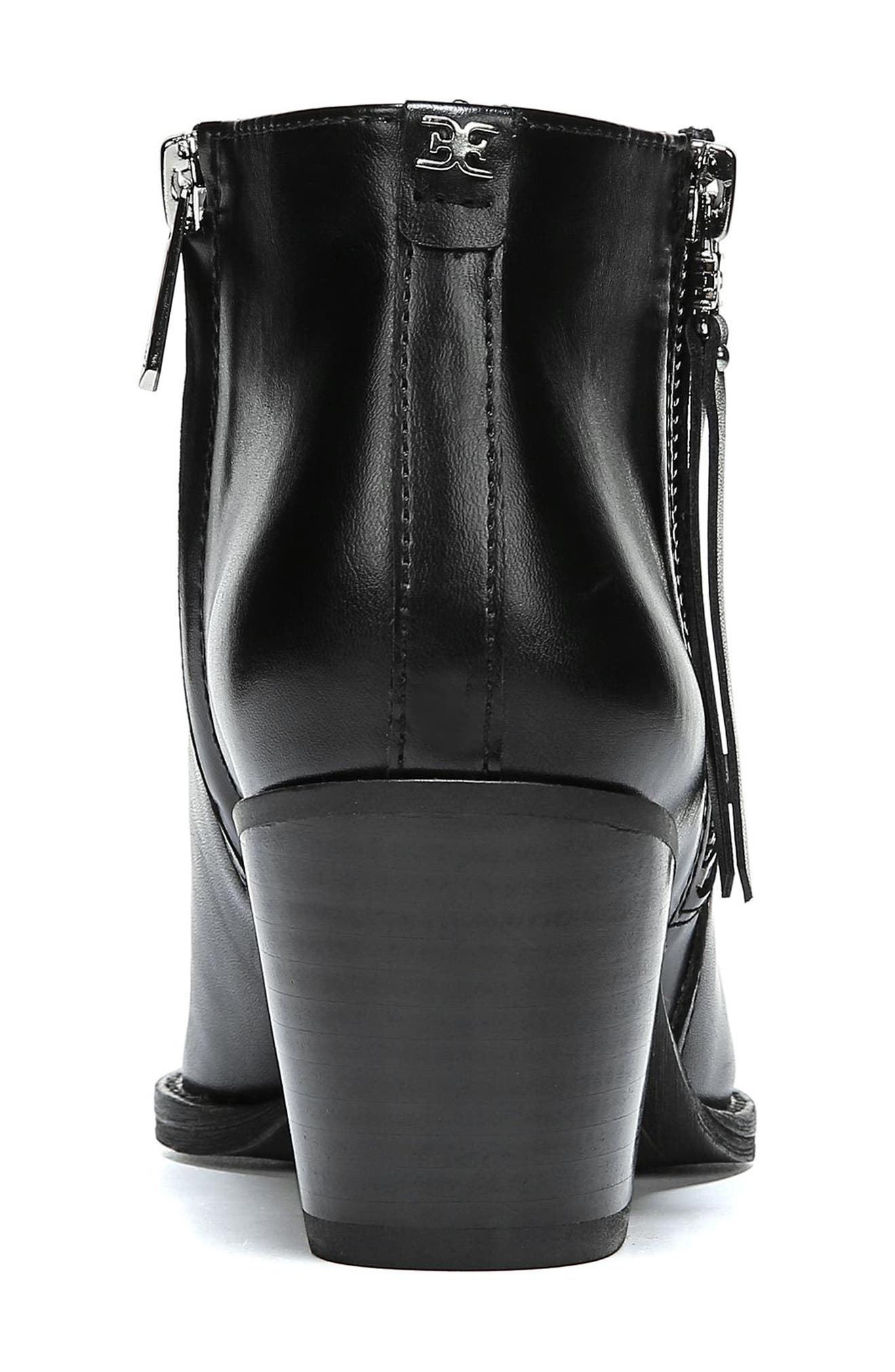 Walden Bootie,                             Alternate thumbnail 8, color,                             BLACK LEATHER